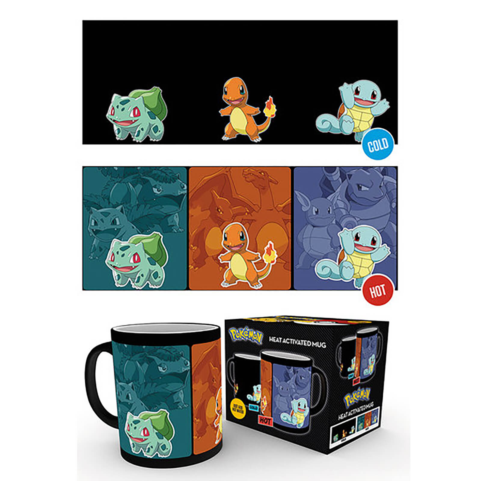 Pokemon Catch Em All Heat Change Mug