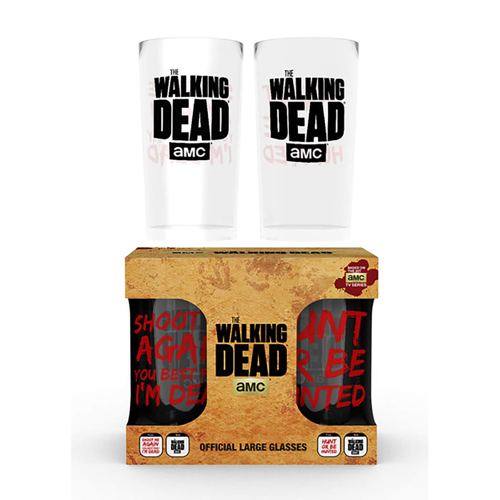 The Walking Dead Type Large Glasses Twin Pack