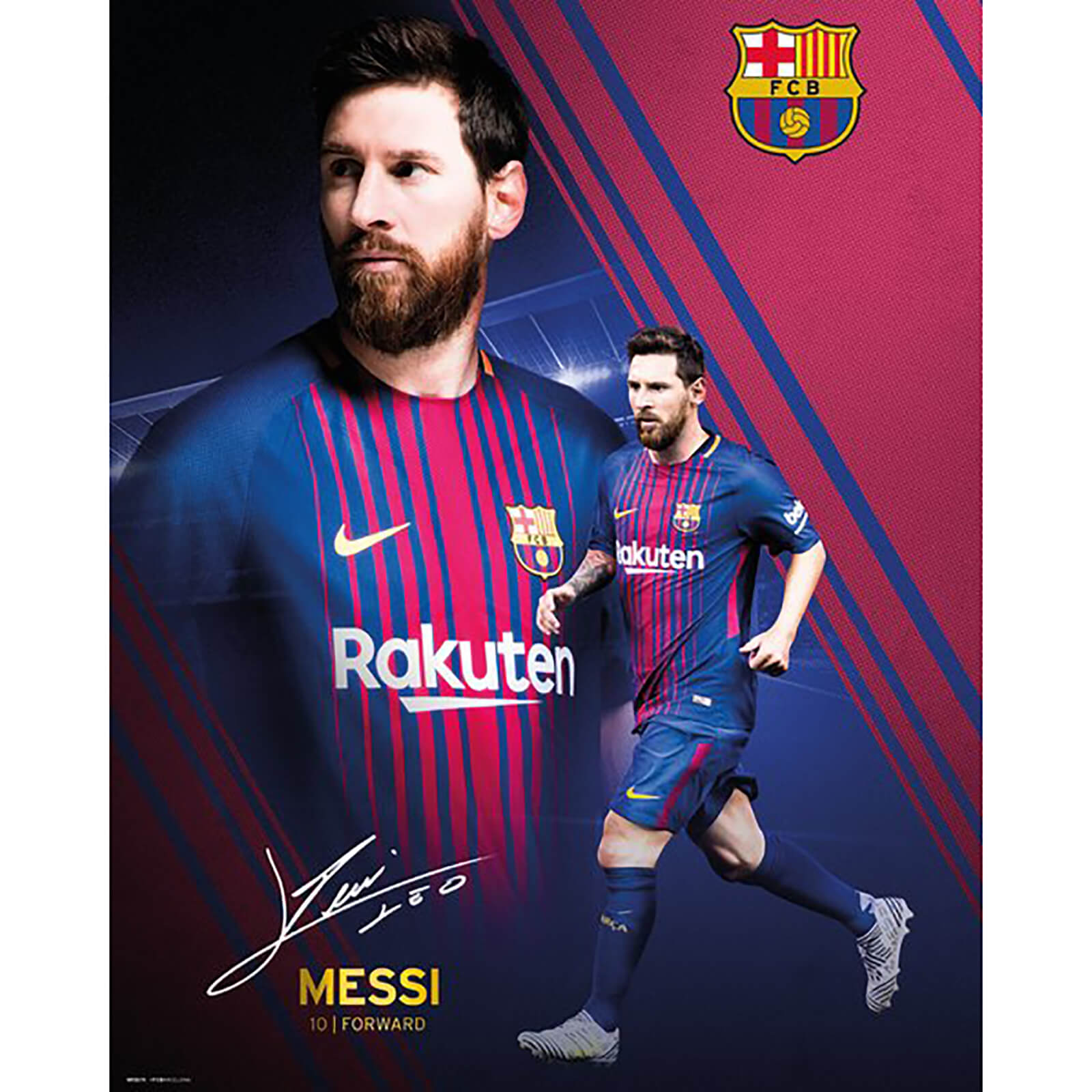 Barcelona Messi Collage 17/18 Mini Poster 40 x 50cm