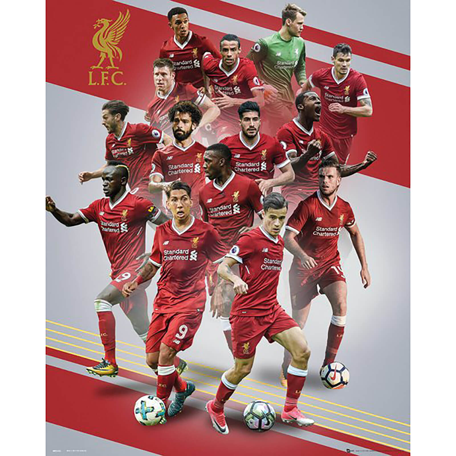 Liverpool Players 17/18 Mini Poster 40 x 50cm
