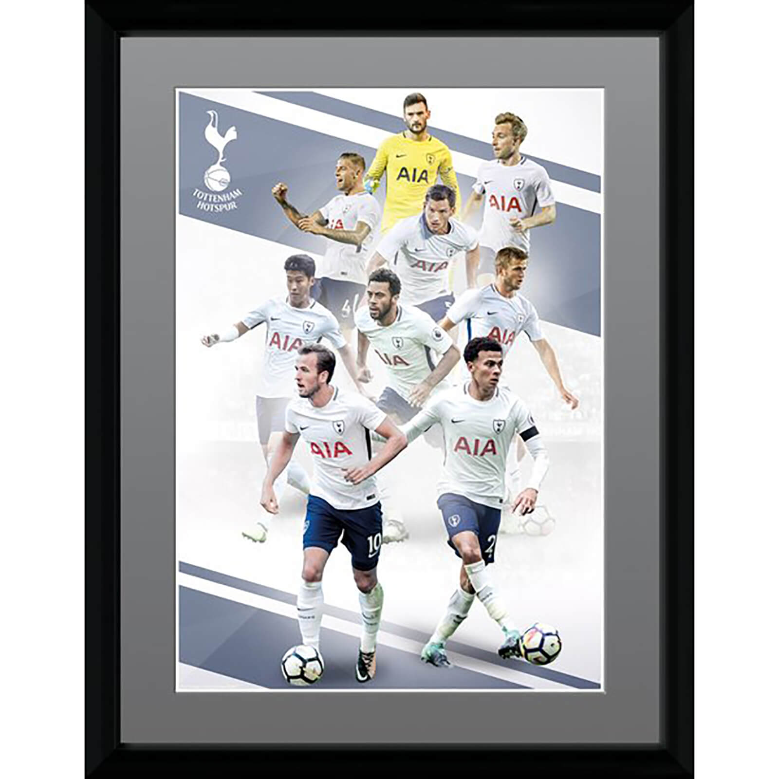 Tottenham Players 17/18 Framed Photograph 12 x 16 Inch