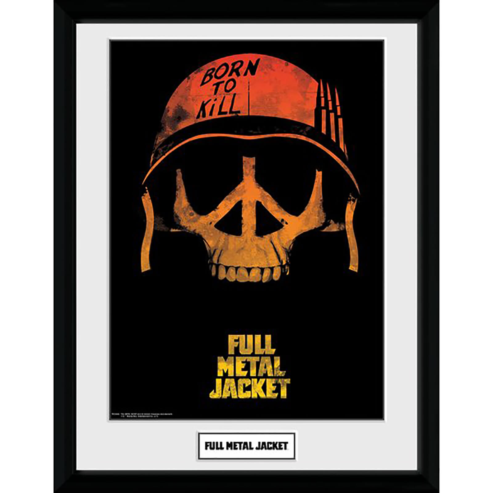 Full Metal Jacket Skull Framed Photograph 12 x 16 Inch