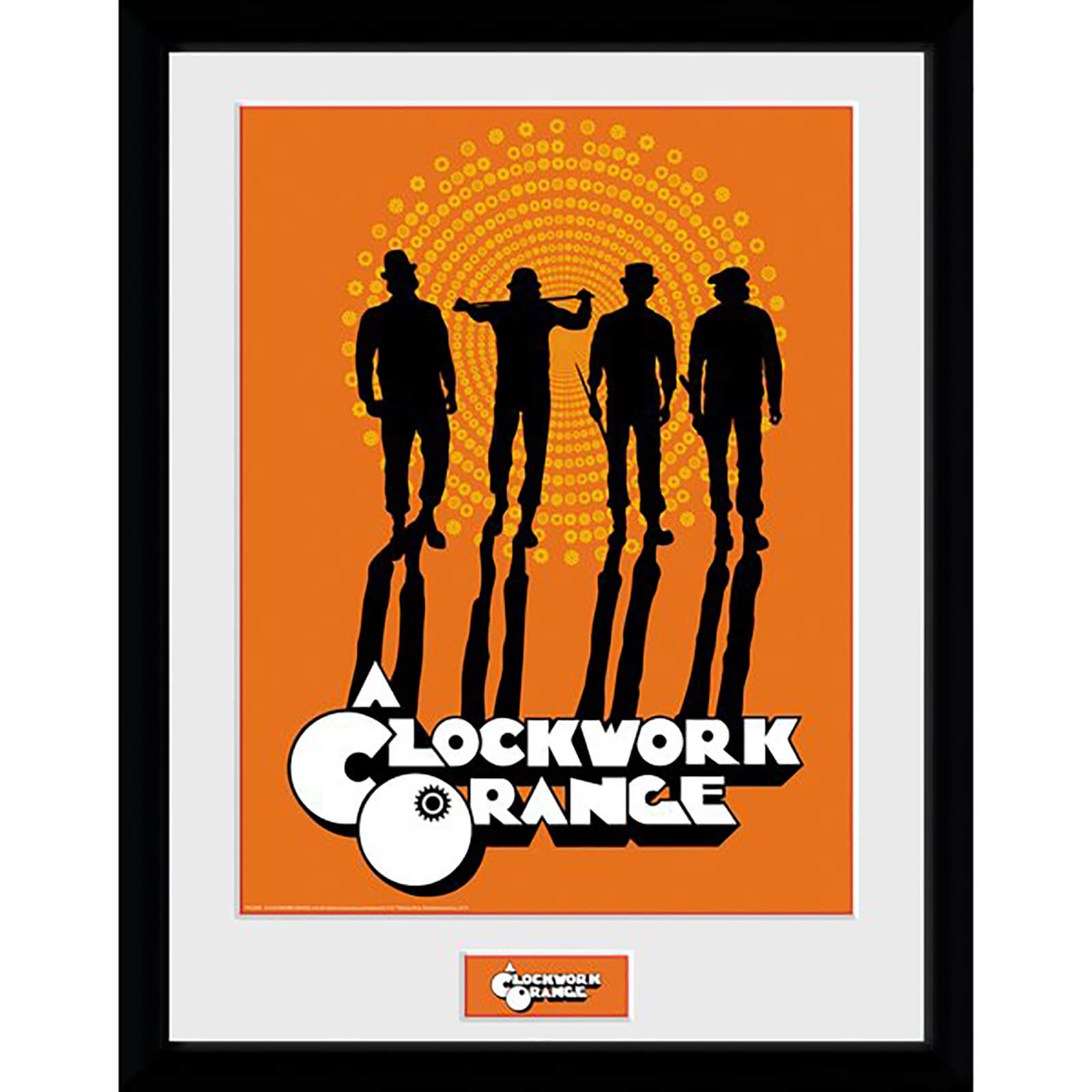 Clockwork Orange Silhouettes Framed Photograph 12 x 16 Inch