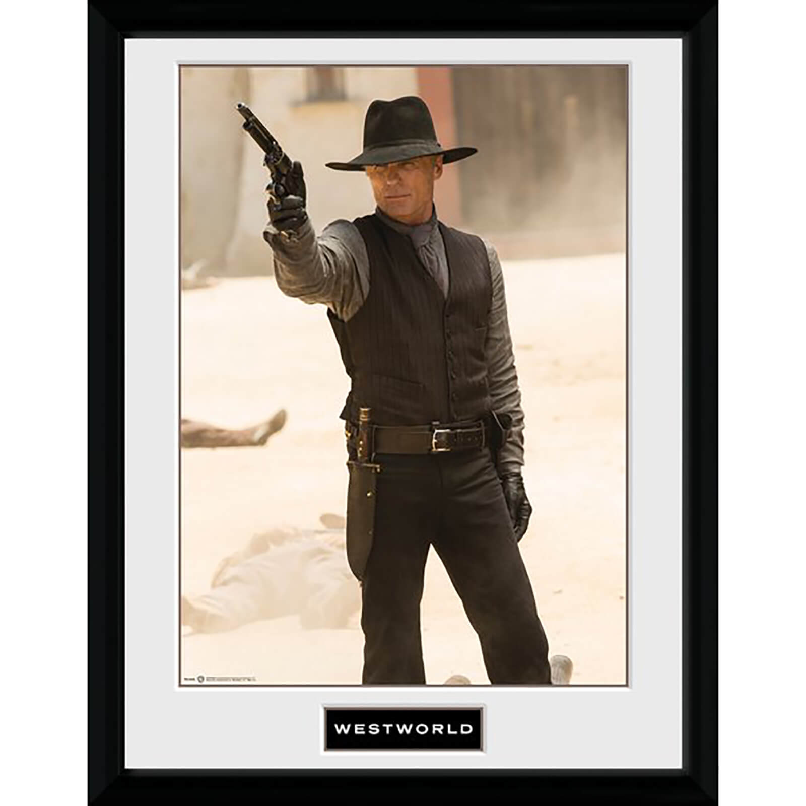 Westworld Man in Black Gun Framed Photograph 12 x 16 Inch
