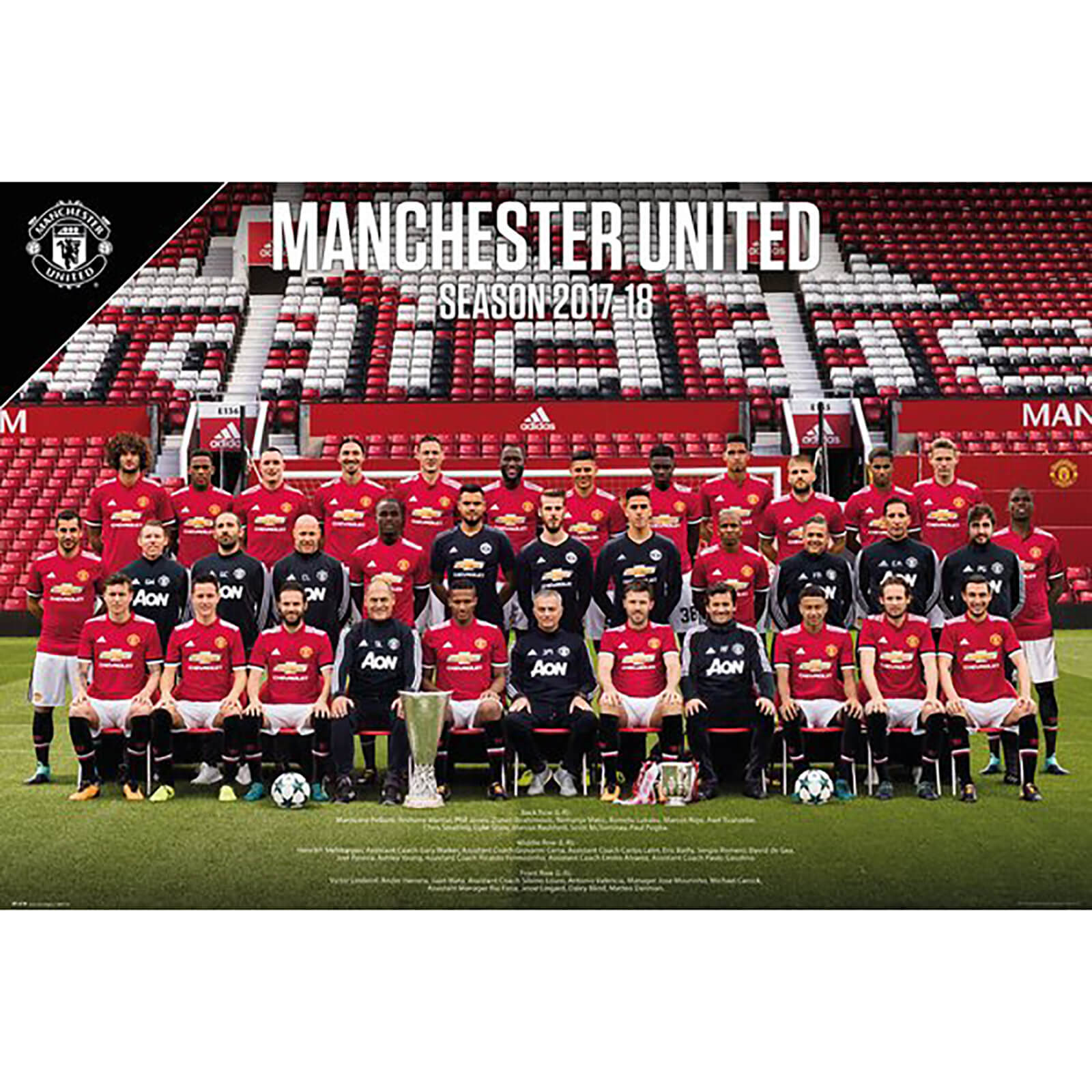 Manchester United Team Photo 17/18 Maxi Poster 61 x 91.5cm