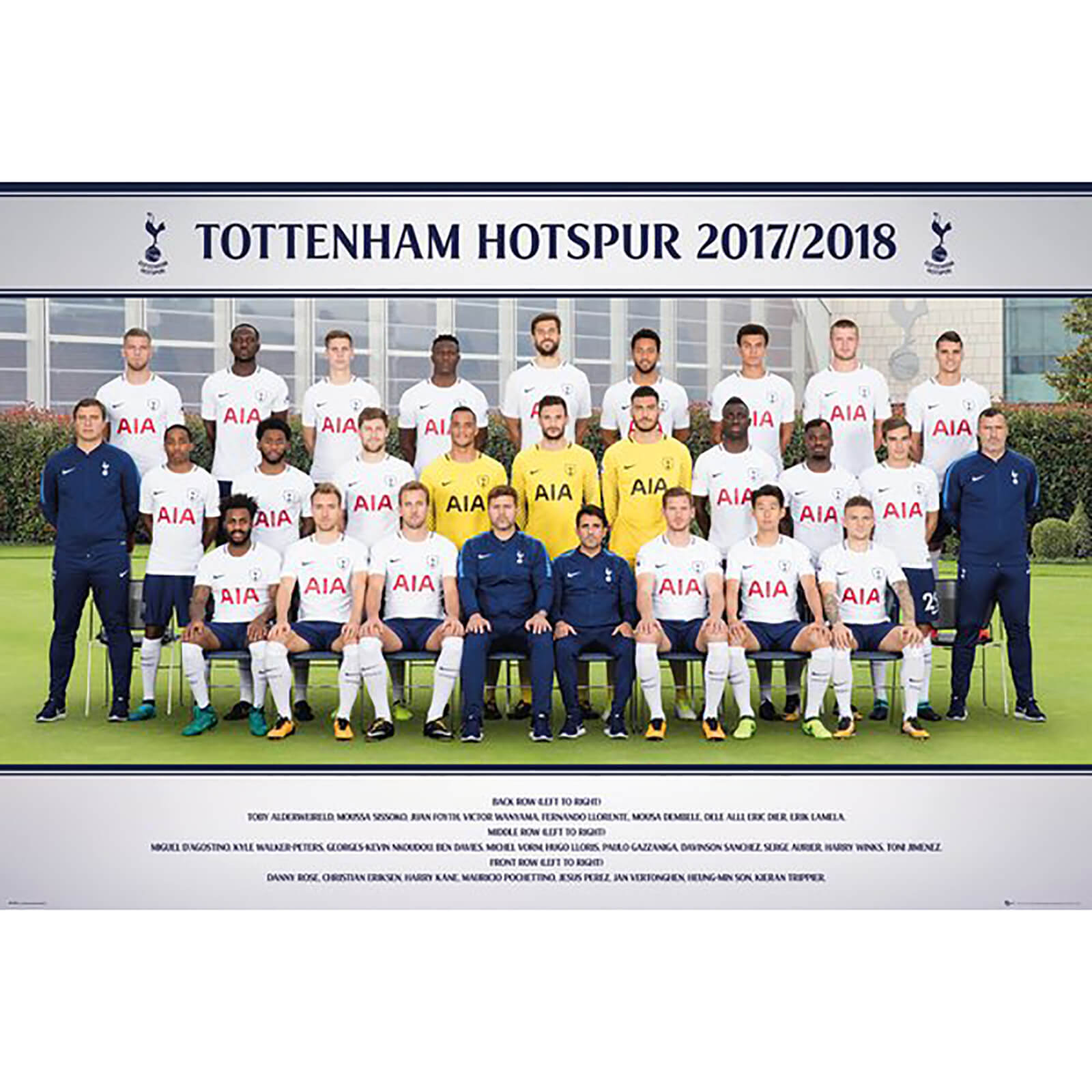 Tottenham Team Photo 17/18 Maxi Poster 61 x 91.5cm