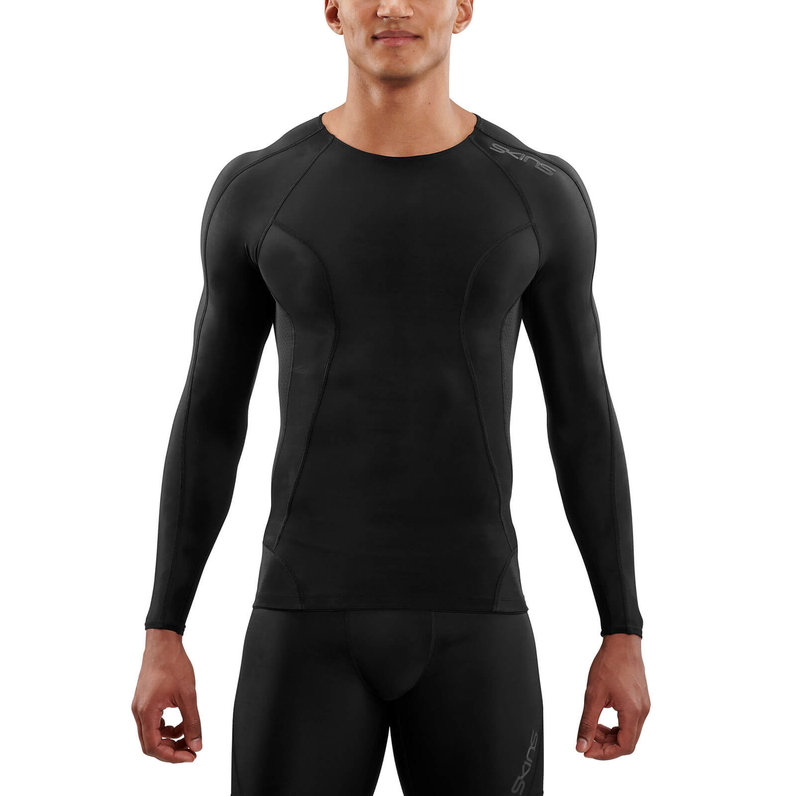 Skins DNAmic Long Sleeve Top - Black/Black