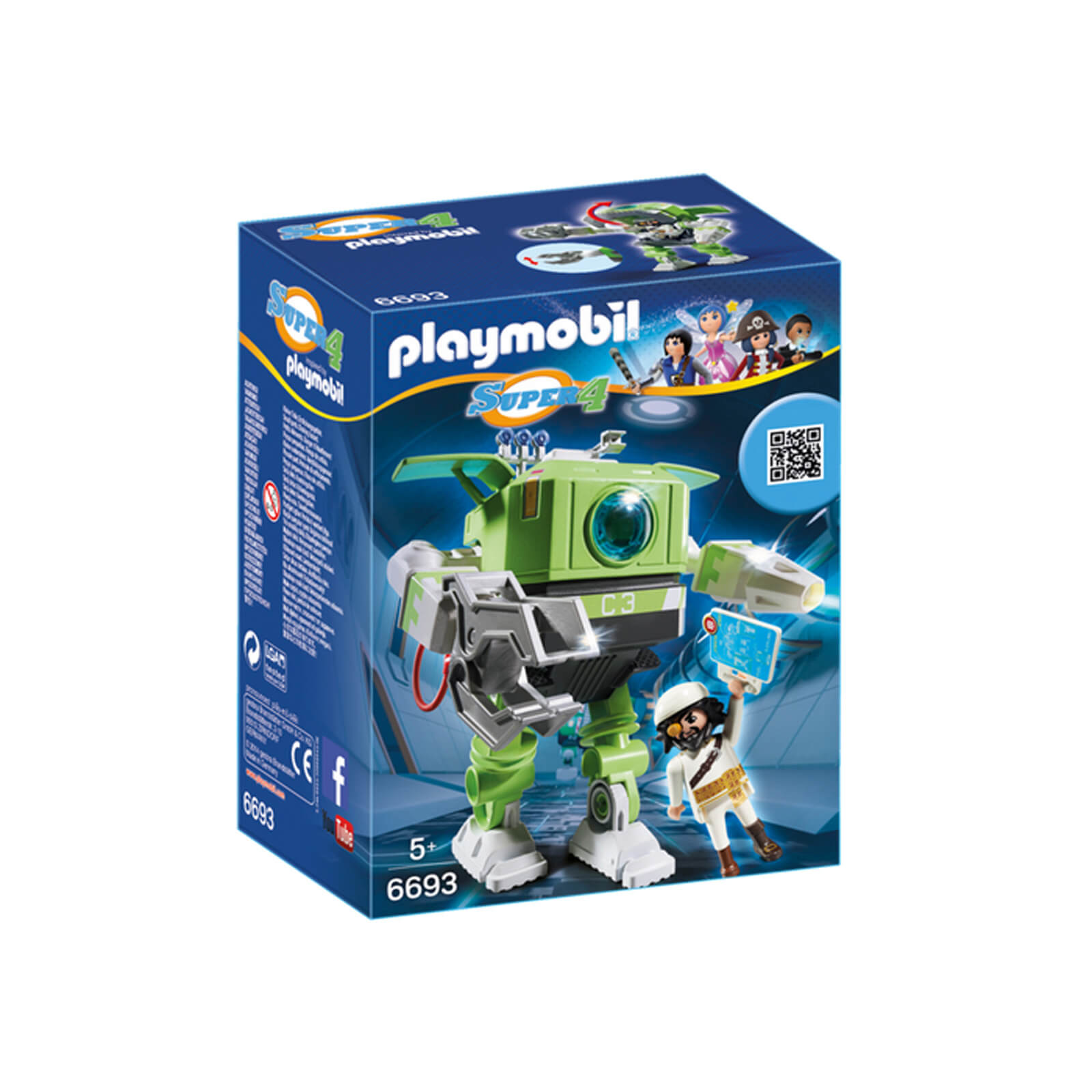 Playmobil Super 4 Cleano Robot (6693)
