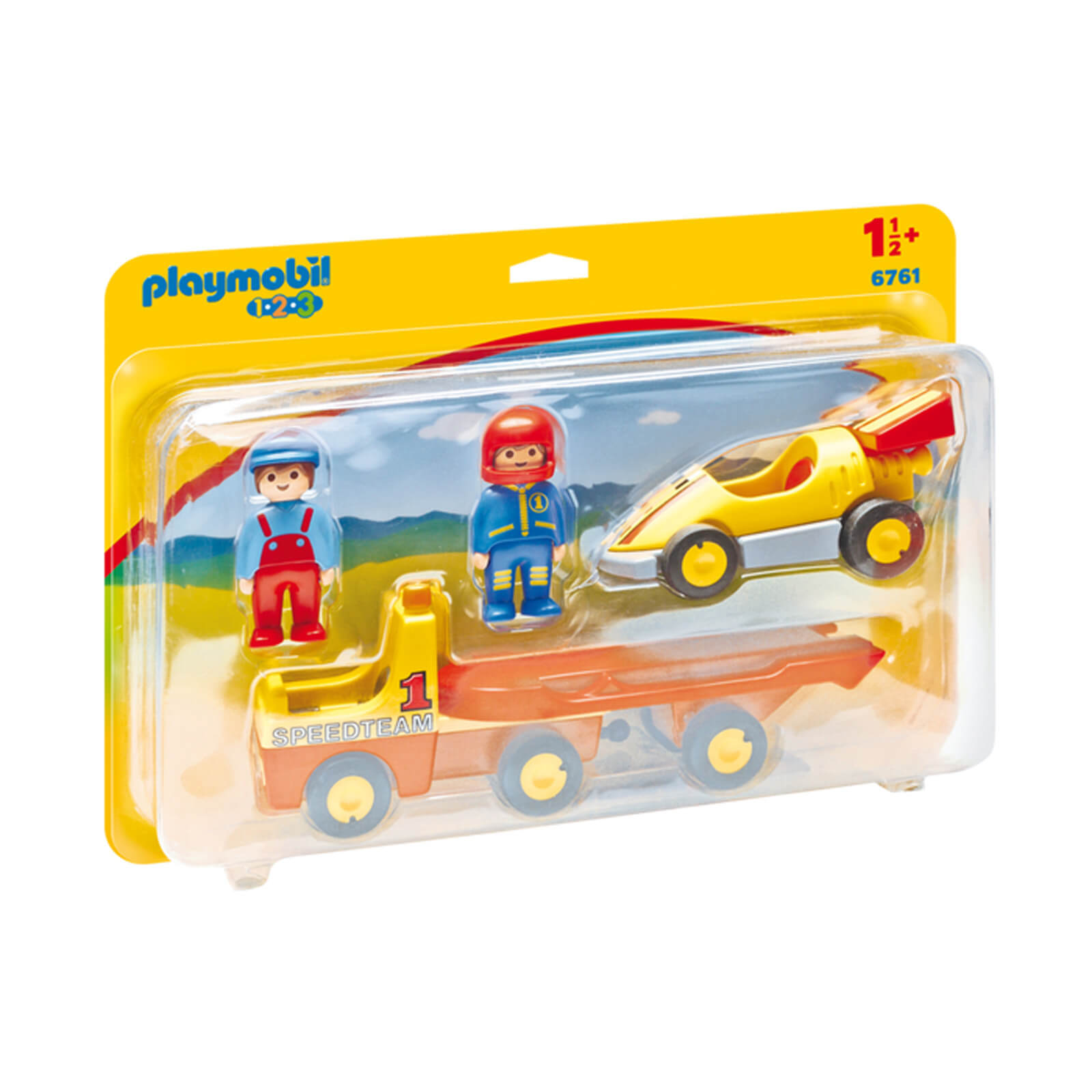 Playmobil 1.2.3 Tow Truck with Race Car (6761)