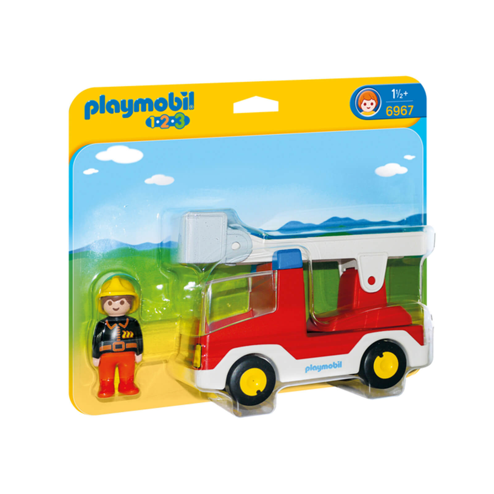 Playmobil 1.2.3 Ladder Unit Fire Truck (6967)