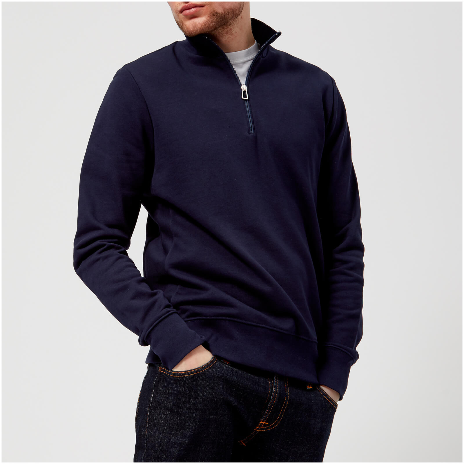38feeb624d8d92 PS by Paul Smith Men's Regular Fit Half Zip Sweatshirt - Blue - Free UK  Delivery over £50