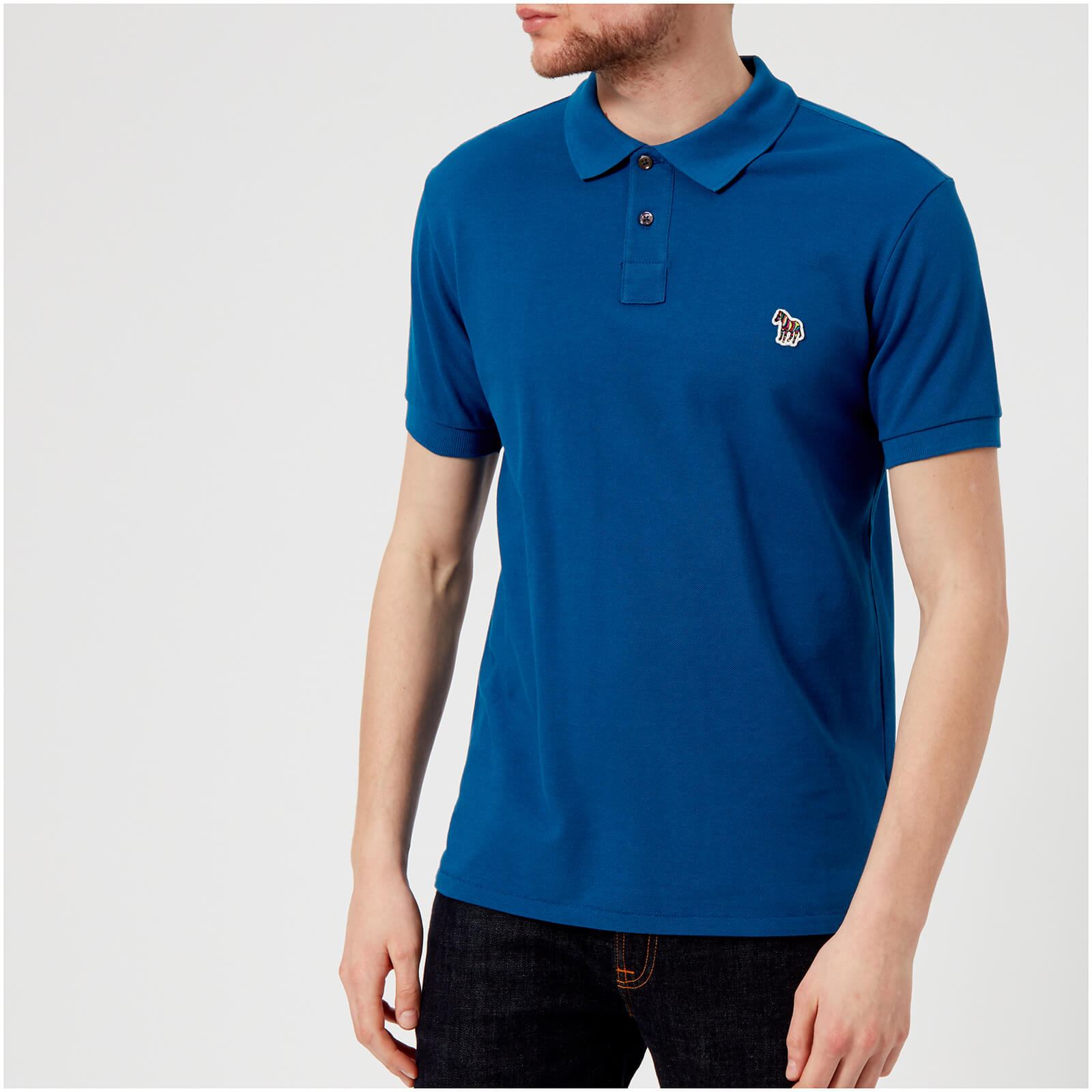 3f0089d9c2d78e PS by Paul Smith Men's Regular Fit Polo Shirt - Blue - Free UK Delivery  over £50