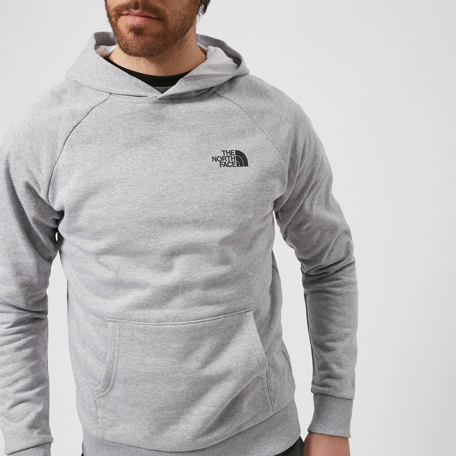 f951ef974 The North Face Men's Raglan Red Box Hoodie - TNF Light Grey Heather