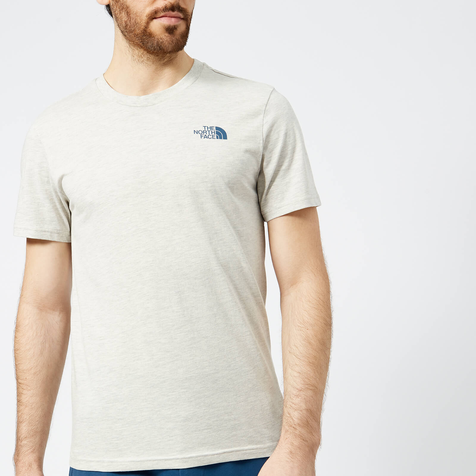 5c0d6b30d37c The North Face Men s Short Sleeve Simple Dome T-Shirt - TNF Oatmeal Heather  Clothing