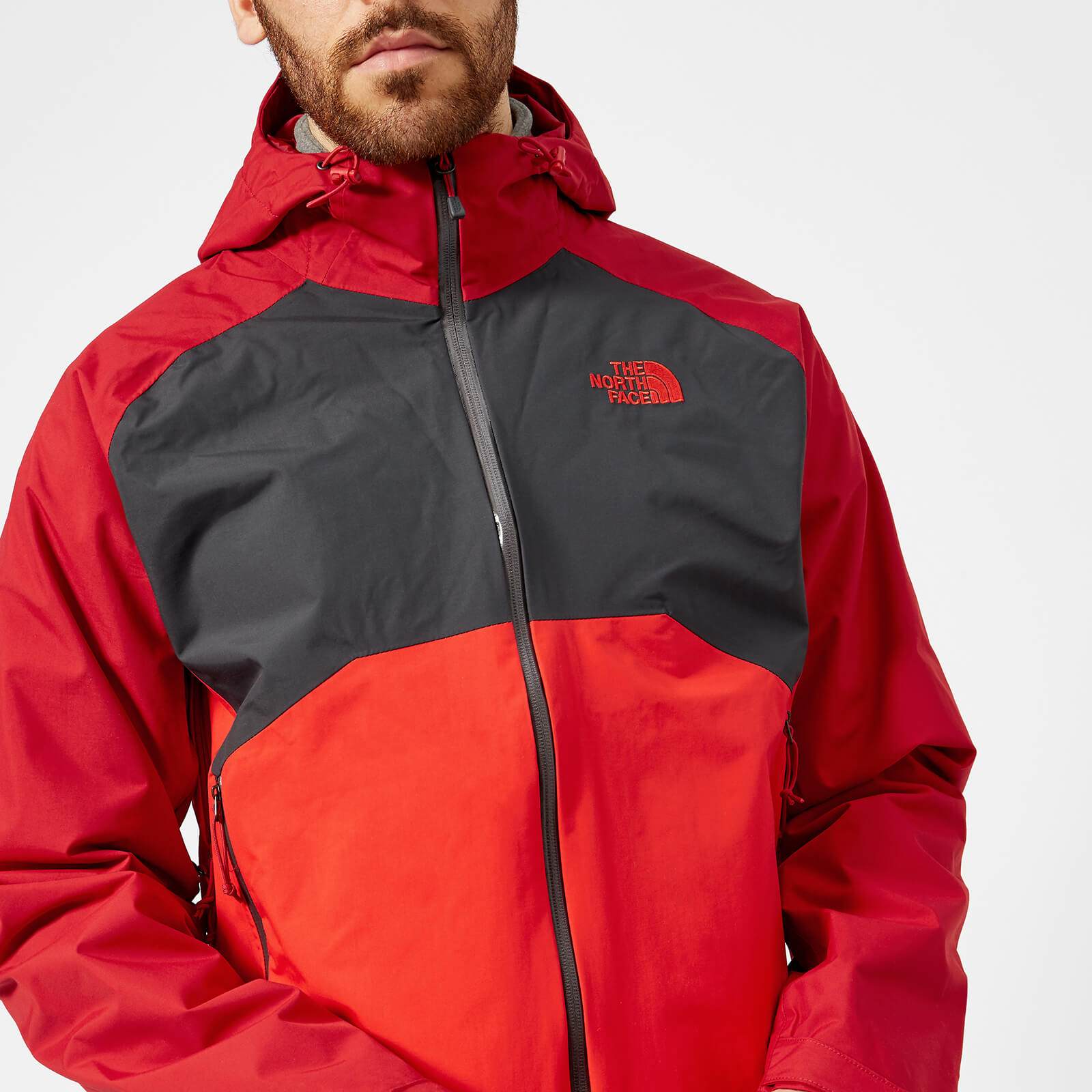 sprzedawca hurtowy uznane marki innowacyjny design The North Face Men's Stratos Jacket - Rage Red/Asphalt Grey/High Risk Red
