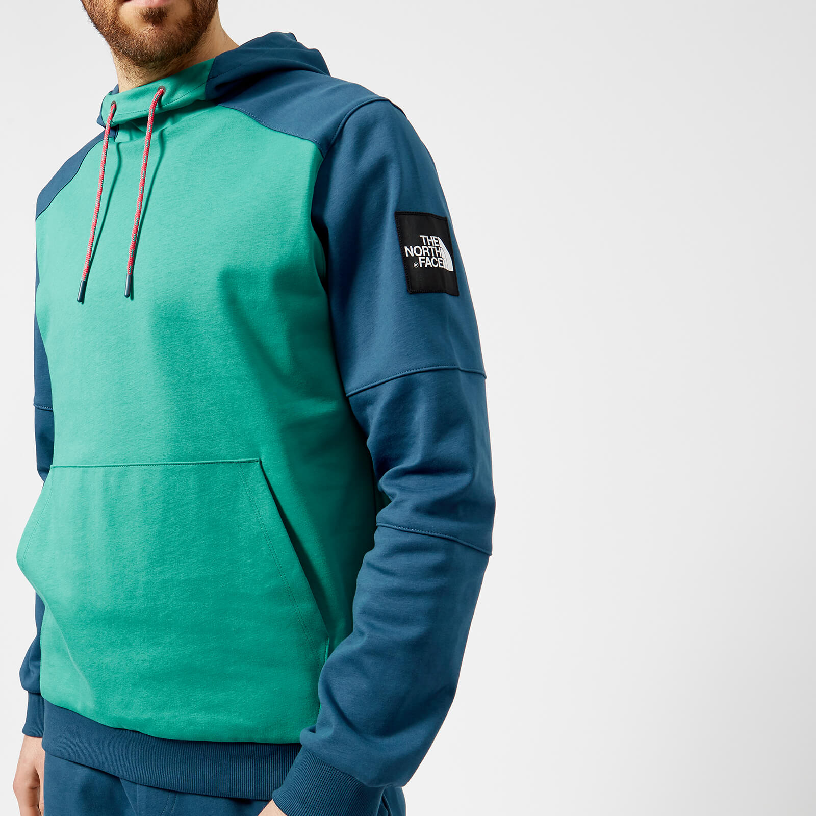 The North Face Men's Fine Box Hoodie Porcelain GreenBlue Wing Teal
