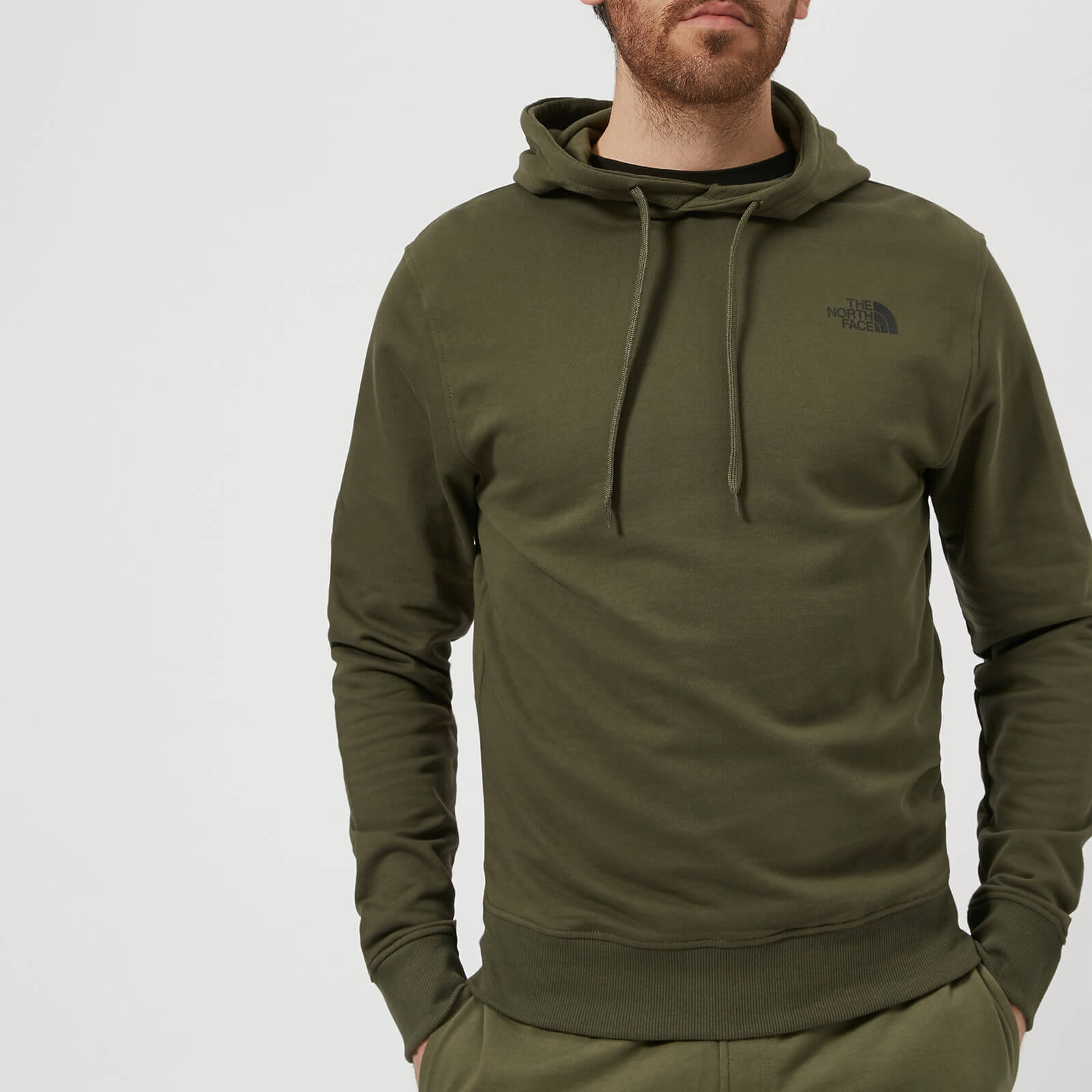 d1e4627b8 The North Face Men's Seasonal Drew Peak Pullover Light Hoodie - New Taupe  Green