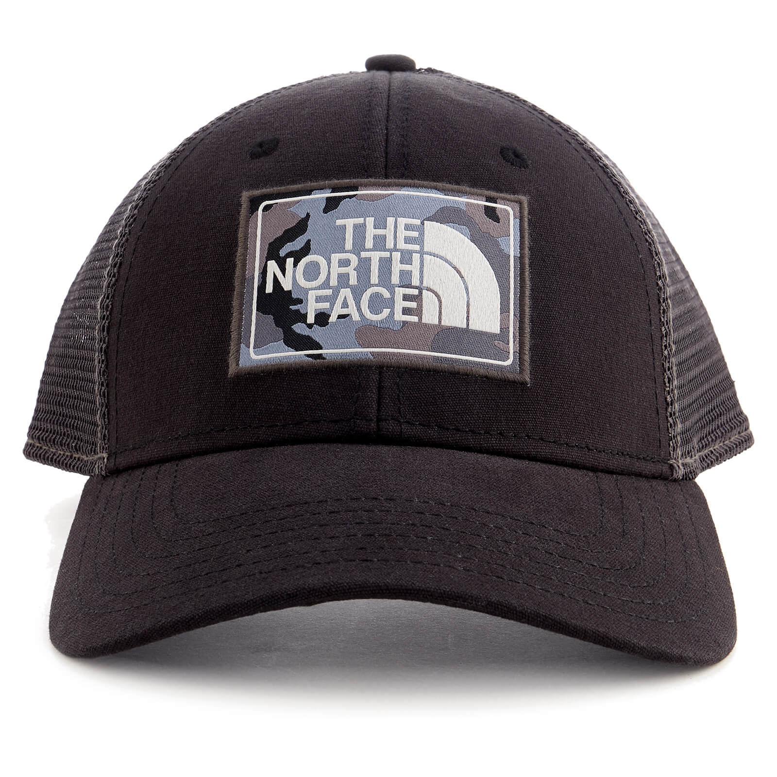 4566484cb3e38 The North Face Mudder Trucker Hat - TNF Black/Asphalt Grey Camo Clothing |  TheHut.com