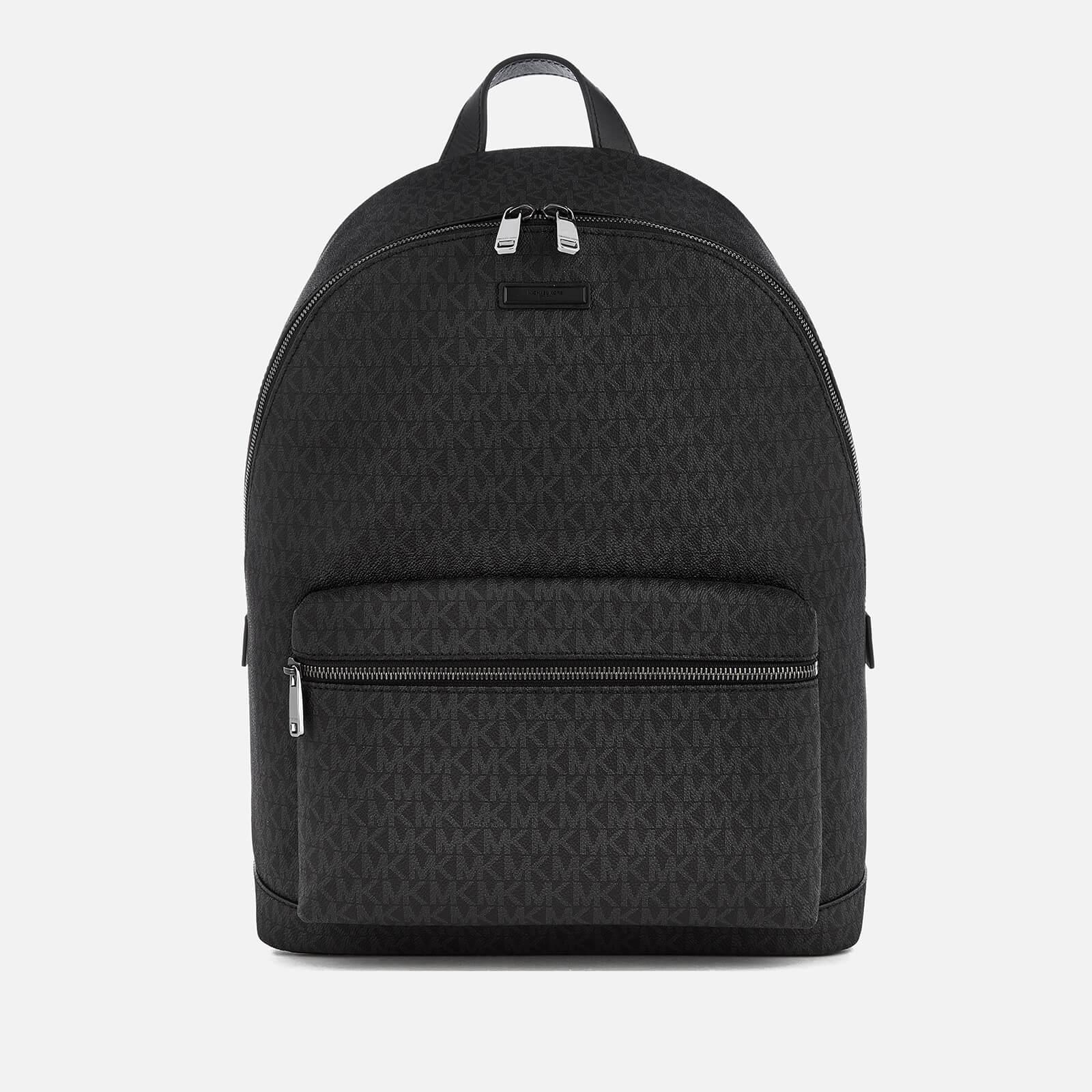 809825c344cd Michael Kors Men s Jet Set Logo Backpack - Black - Free UK Delivery ...