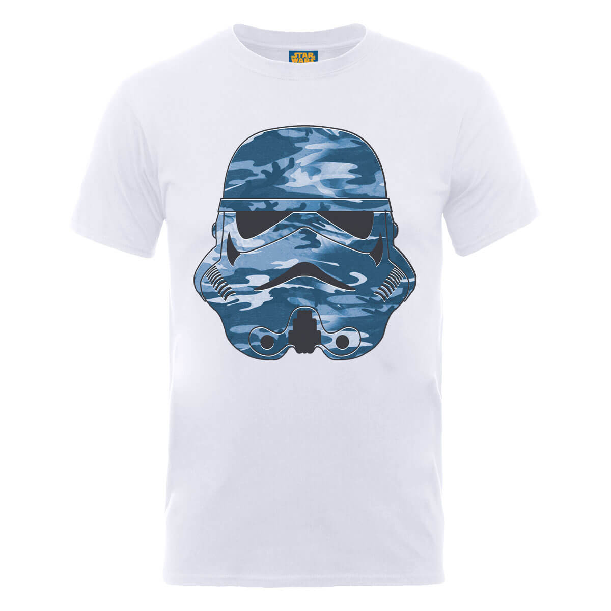 Star Wars Stormtrooper Blue Camo T-Shirt - White