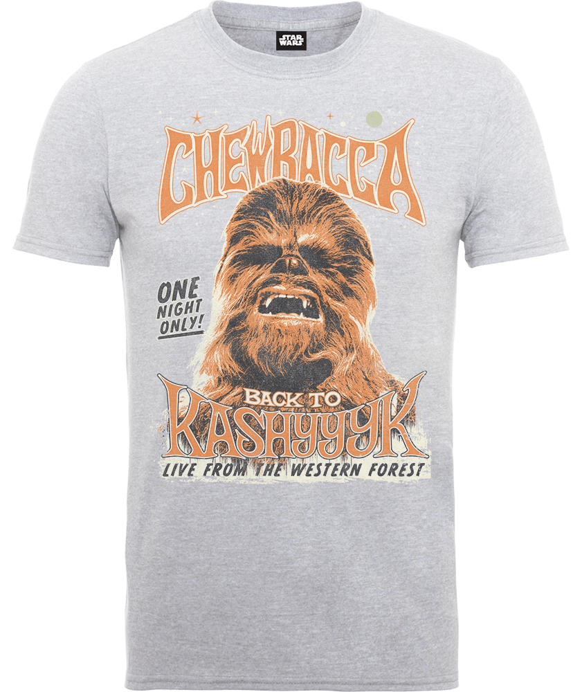 "Camiseta Star Wars Chewbacca ""One Night Only"" - Hombre - Gris"