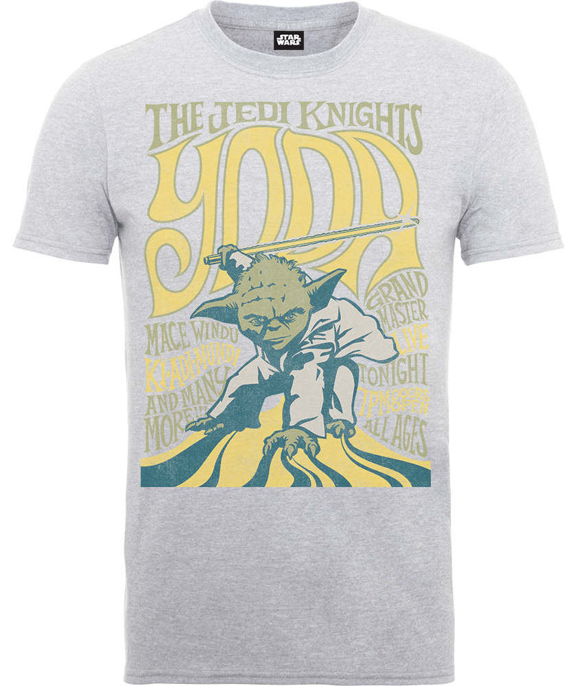 Star Wars Yoda The Jedi Knights T-Shirt - Grey