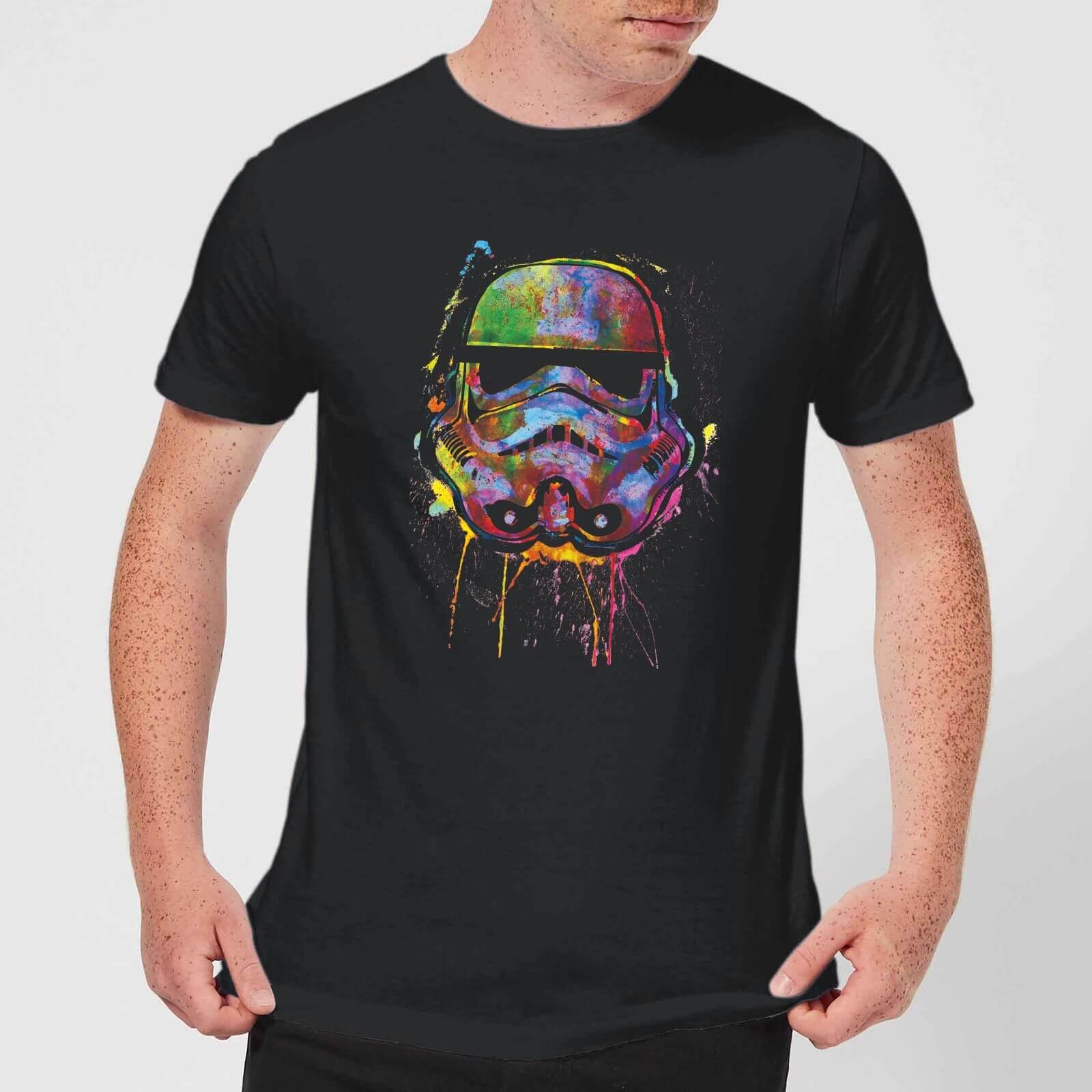 T-Shirt Homme Éclaboussures de Peinture Stormtrooper