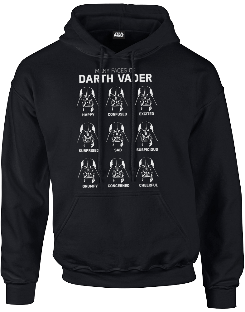 star wars many faces of darth vader pullover hoodie black iwoot. Black Bedroom Furniture Sets. Home Design Ideas