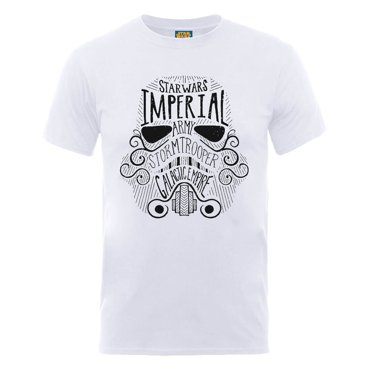 Star Wars Imperial Army Storm Trooper Galactic Empire T-Shirt - White