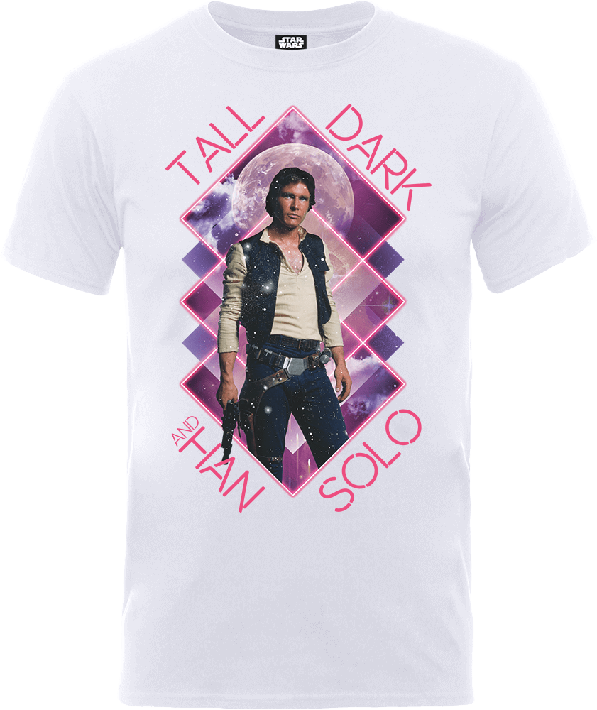 Star Wars Han Solo Tall Dark T-Shirt - White