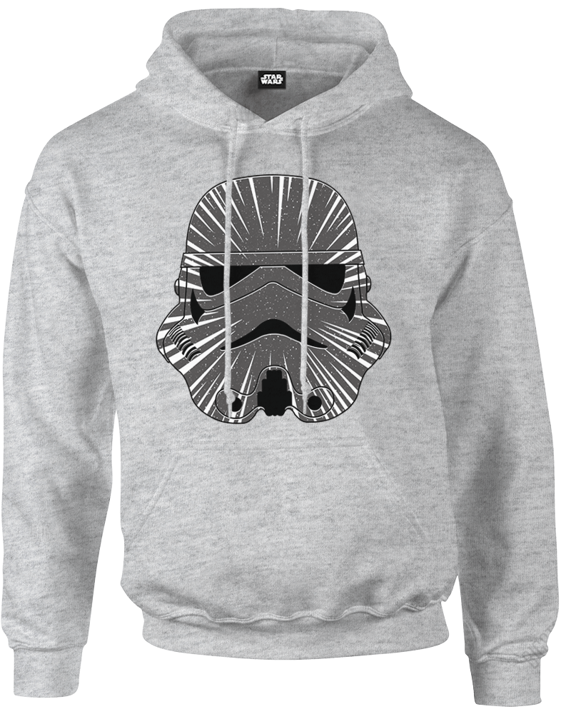 star wars hyperspeed stormtrooper pullover hoodie grey iwoot. Black Bedroom Furniture Sets. Home Design Ideas