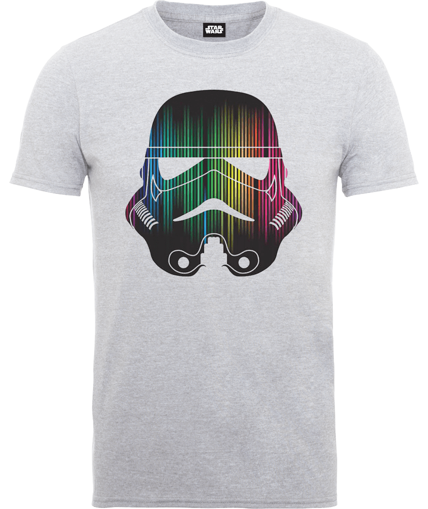 Star Wars Vertical Lights Stormtrooper T-Shirt - Grey