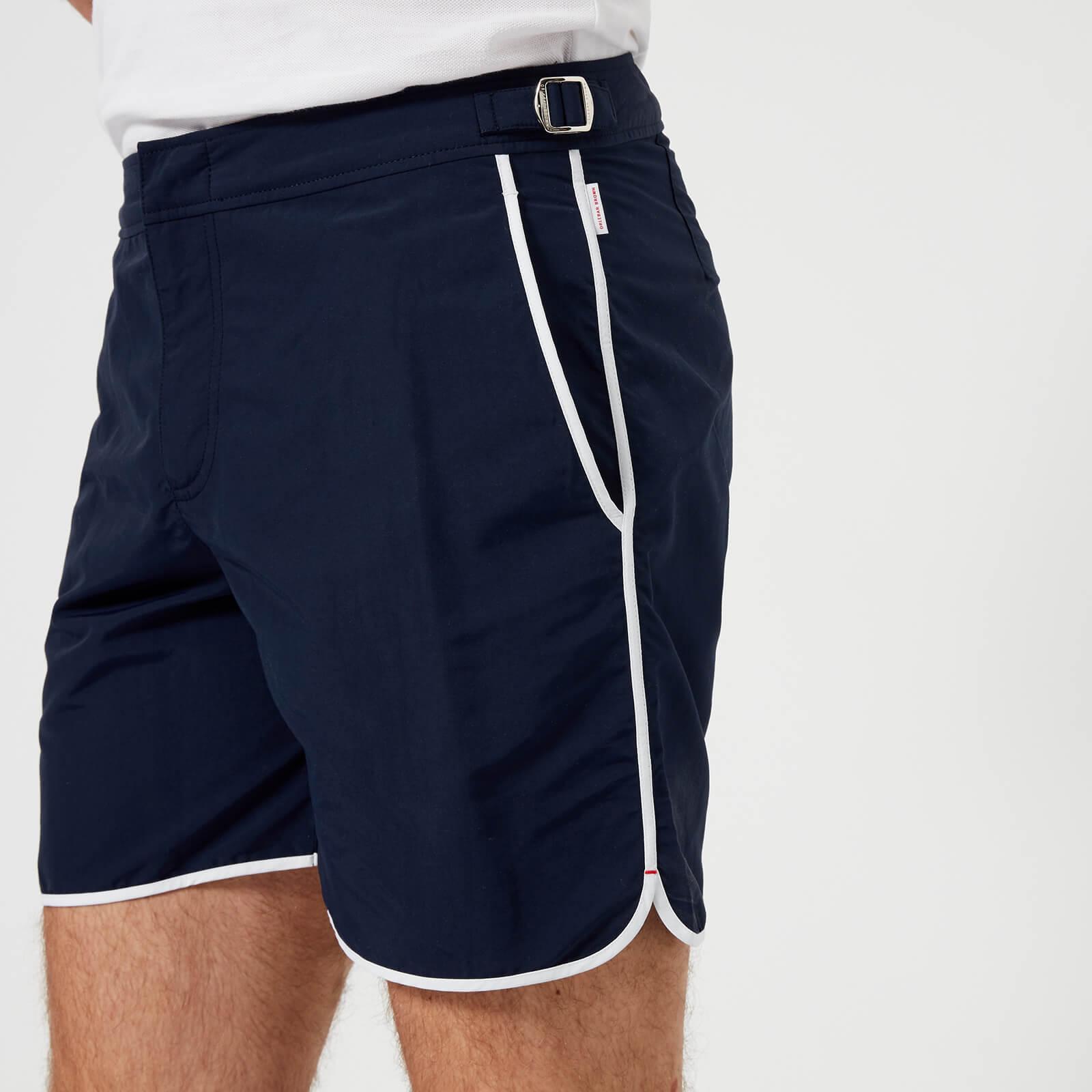 1d5d1bbd33 Orlebar Brown Men's Bulldog Binding Swim Shorts - Navy/White - Free UK  Delivery over £50