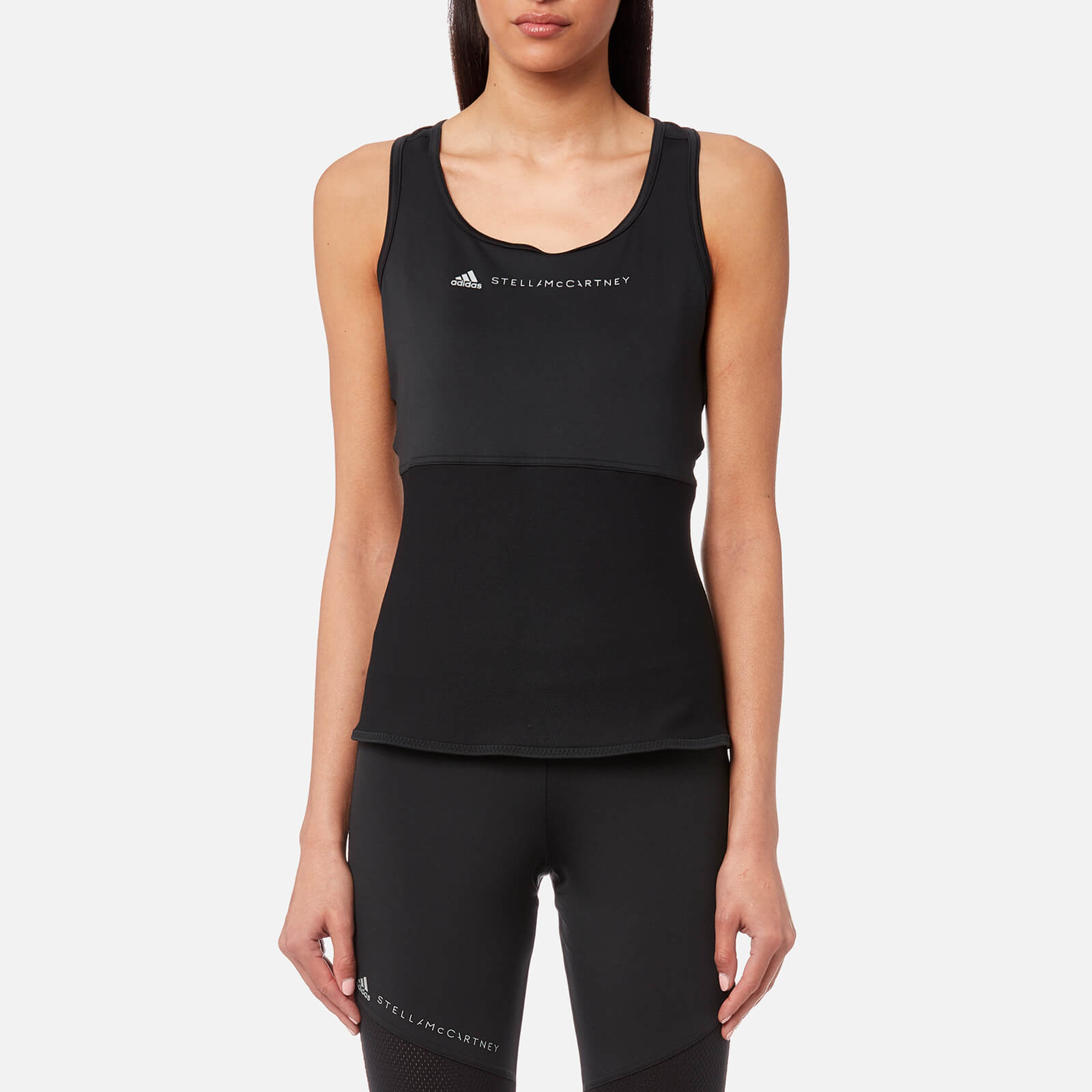 4ae6de8d8bfd73 adidas by Stella McCartney Women's Essential Tank Top - Black - Free UK  Delivery over £50