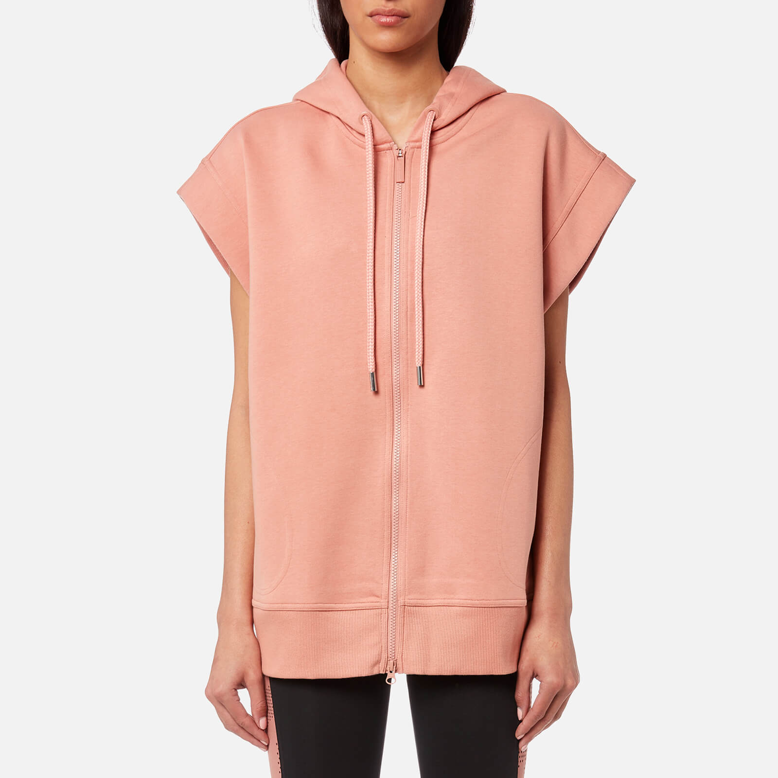 super popular 70224 ada60 ... adidas by Stella McCartney Women s Yoga Sleeveless Hoody - Cinnamon  Blush