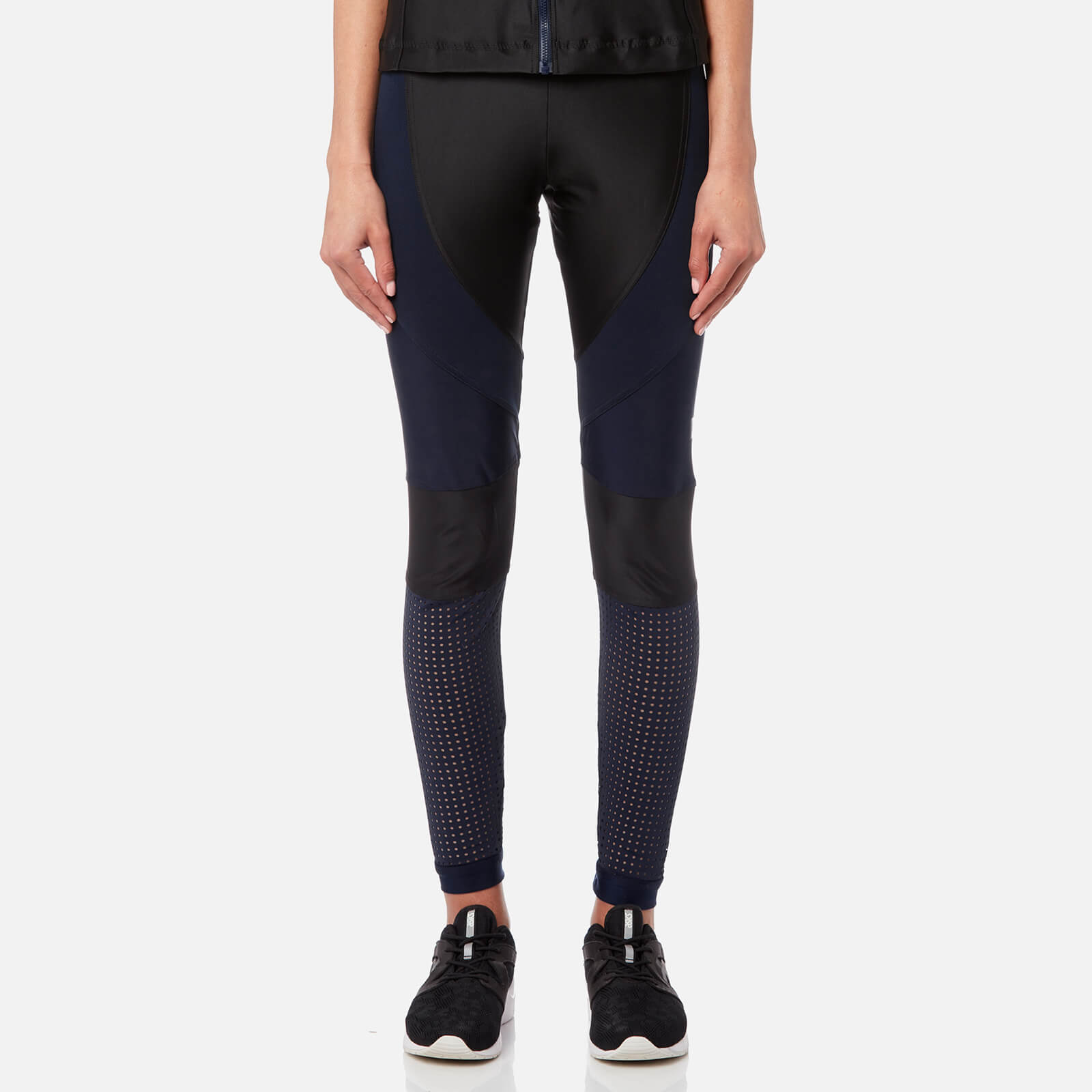 6a62ca1bc8f adidas by Stella McCartney Women's Run Tights - Black/Collegiate Navy -  Free UK Delivery over £50