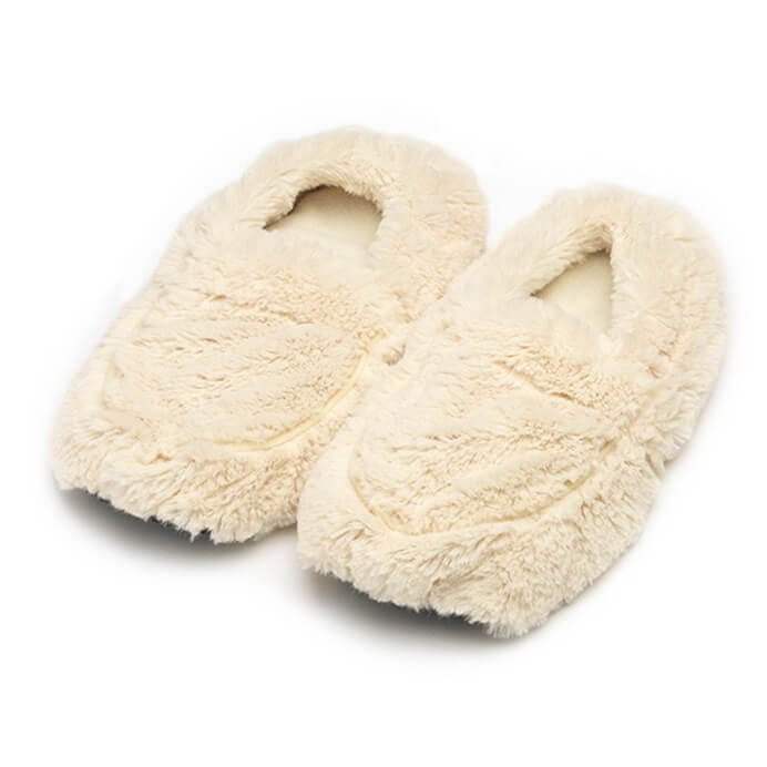 Warmies Hot Slippers - Cream