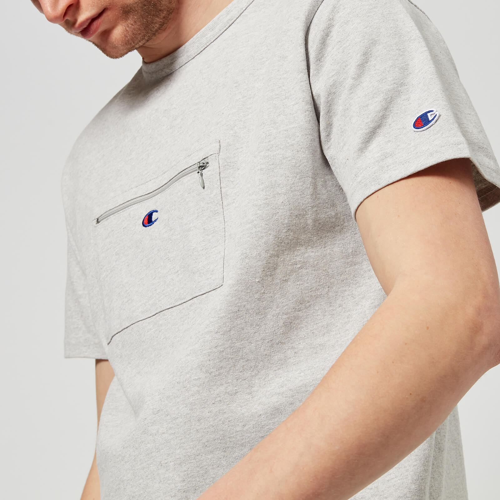 8b43e80aad9a Champion X Beams Men s Front Pocket T-Shirt - Grey - Free UK Delivery over  £50