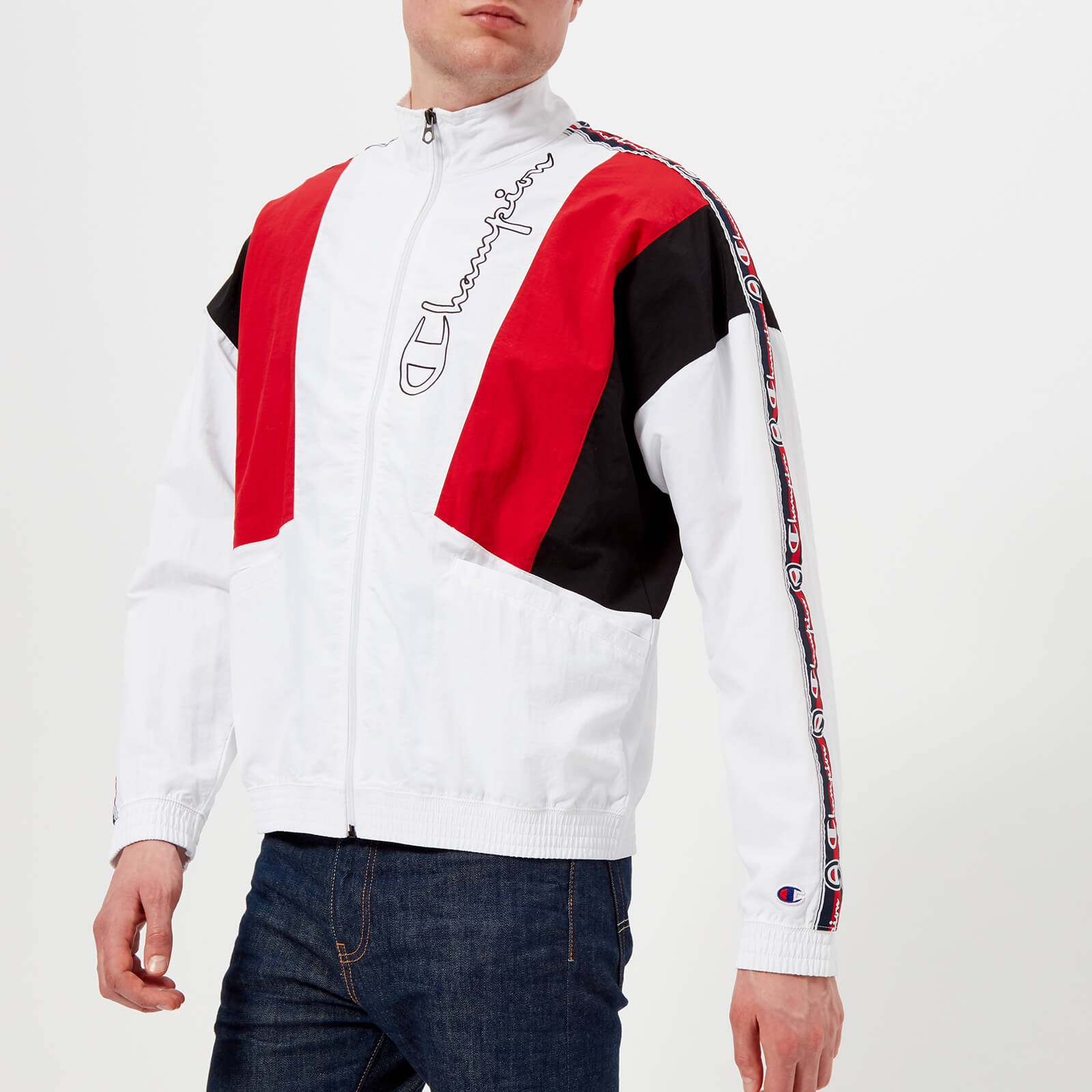 8d4658c7b9c9 Champion Men s Track Top - White Red Black - Free UK Delivery over £50