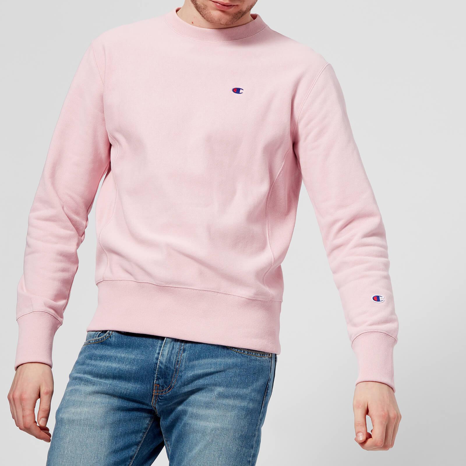 Champion Men's Crew Neck Sweatshirt Pink