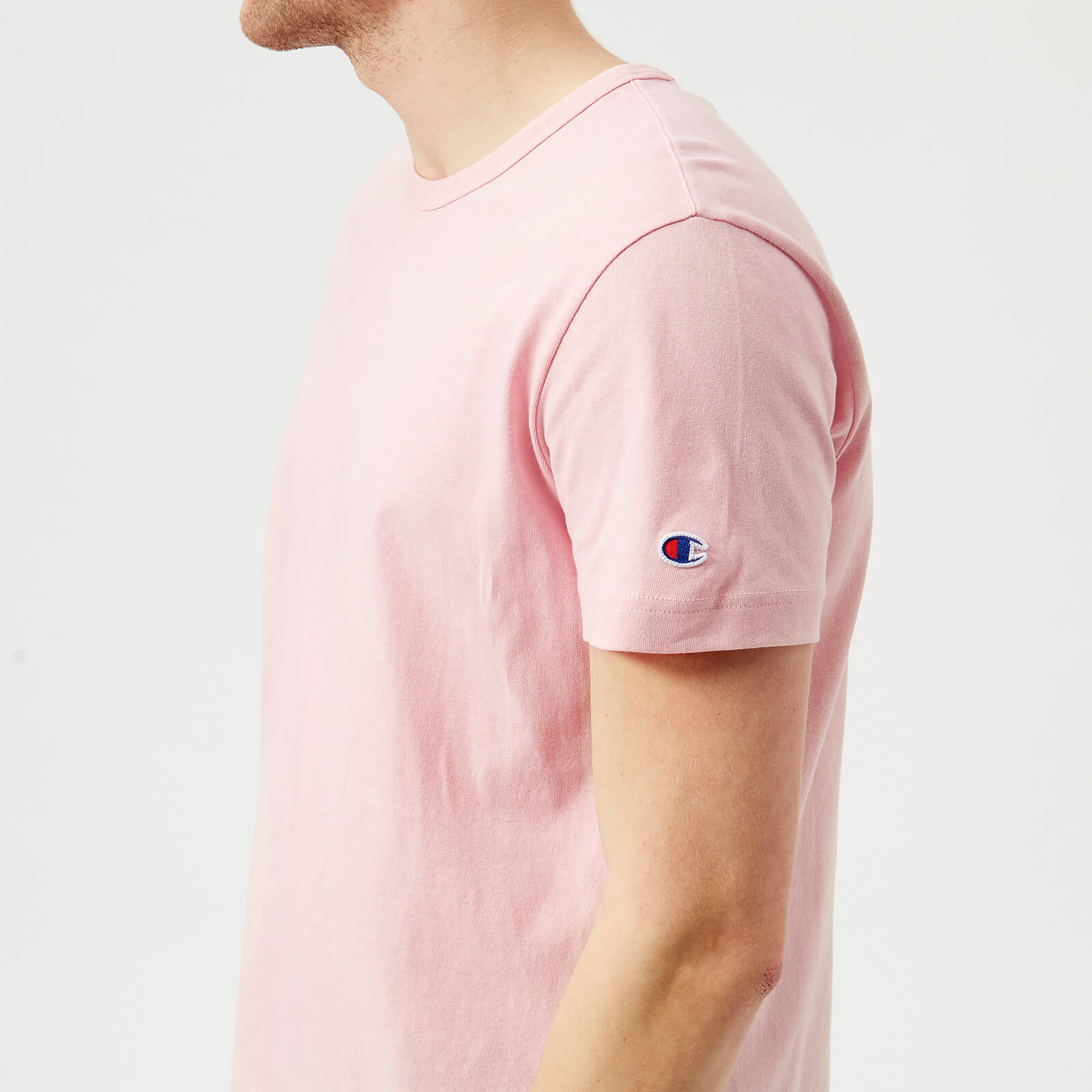 d72f76d5 Champion Men's Short Sleeve Logo T-Shirt - Pink - Free UK Delivery over £50