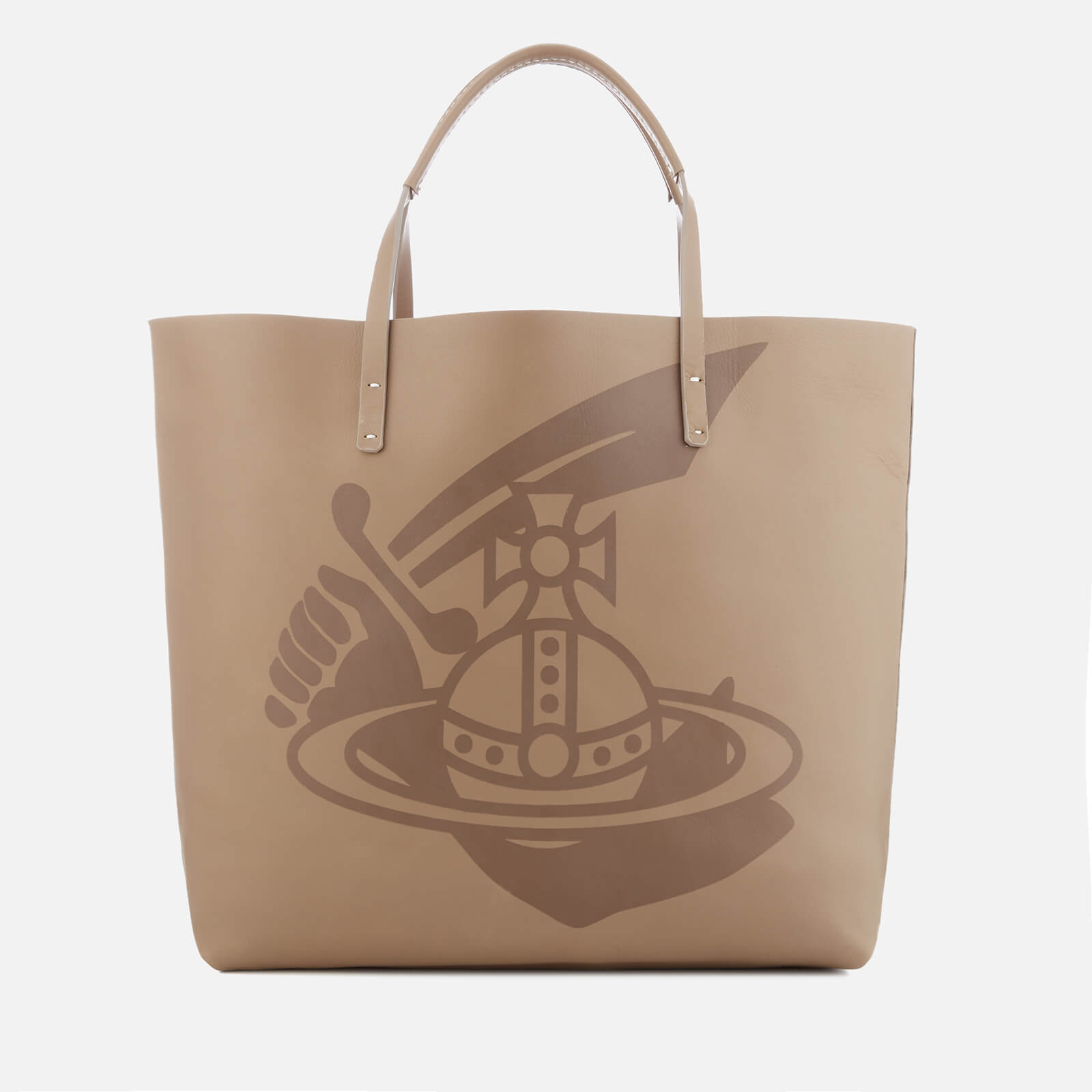 804342a0ff4 Vivienne Westwood Women's Made in Kenya Leather Shopper Bag - Beige - Free  UK Delivery over £50