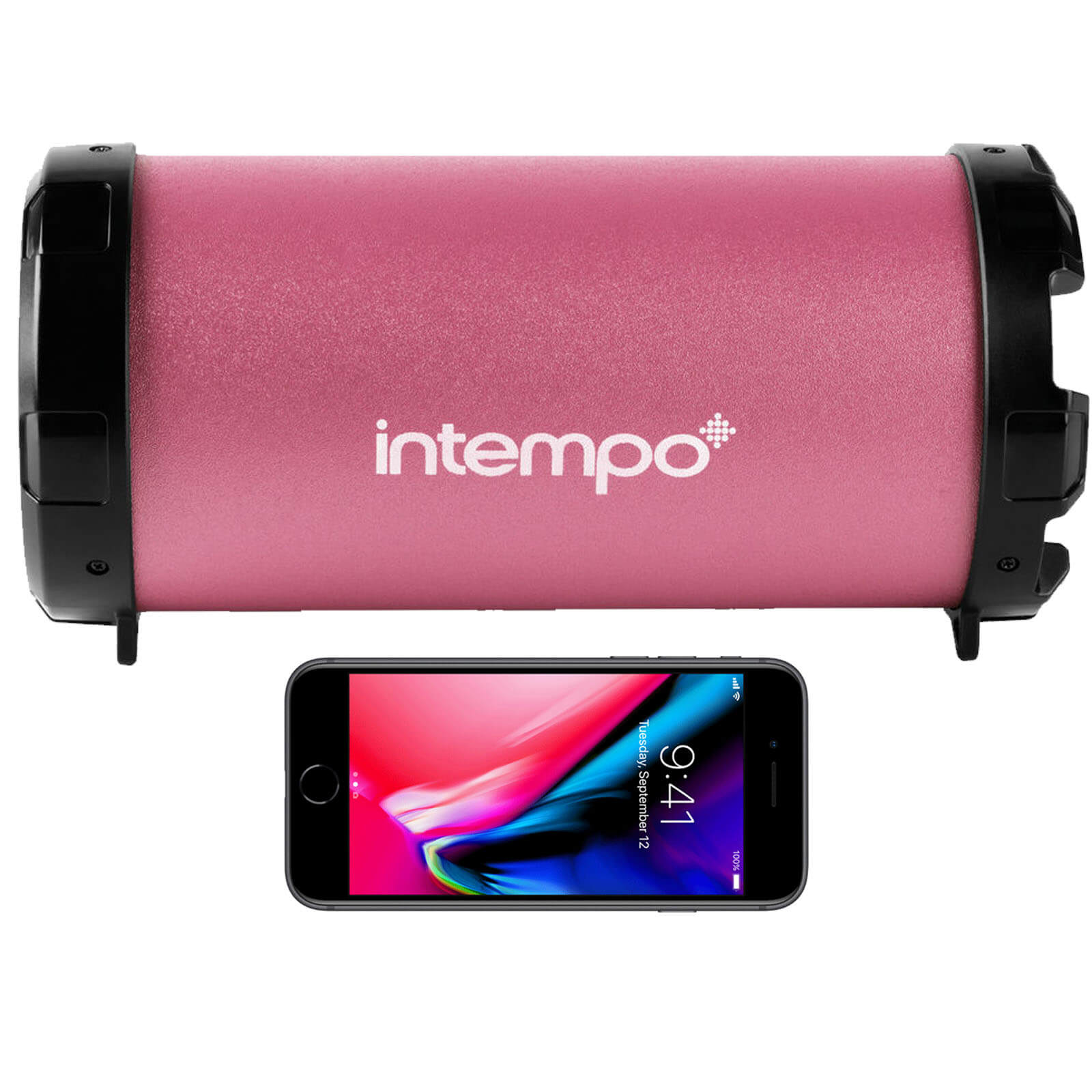 Intempo Large Wireless Bluetooth Tube Speaker - Pink