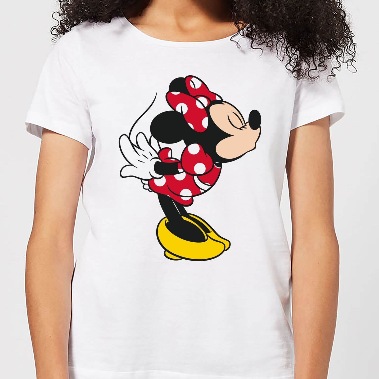 04abaa2a Disney Mickey Mouse Minnie Split Kiss Women's T-Shirt - White Clothing |  Zavvi