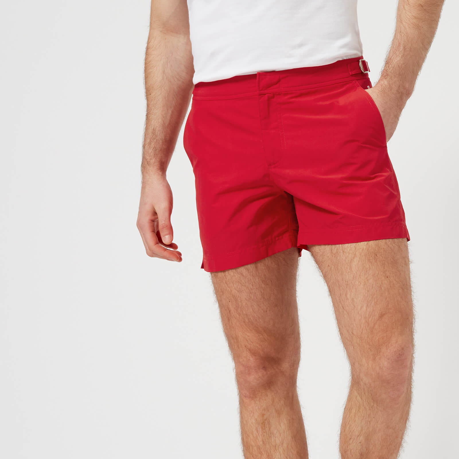 c90e29d024 Orlebar Brown Men's Setter Swim Shorts - Rescue Red - Free UK Delivery over  £50