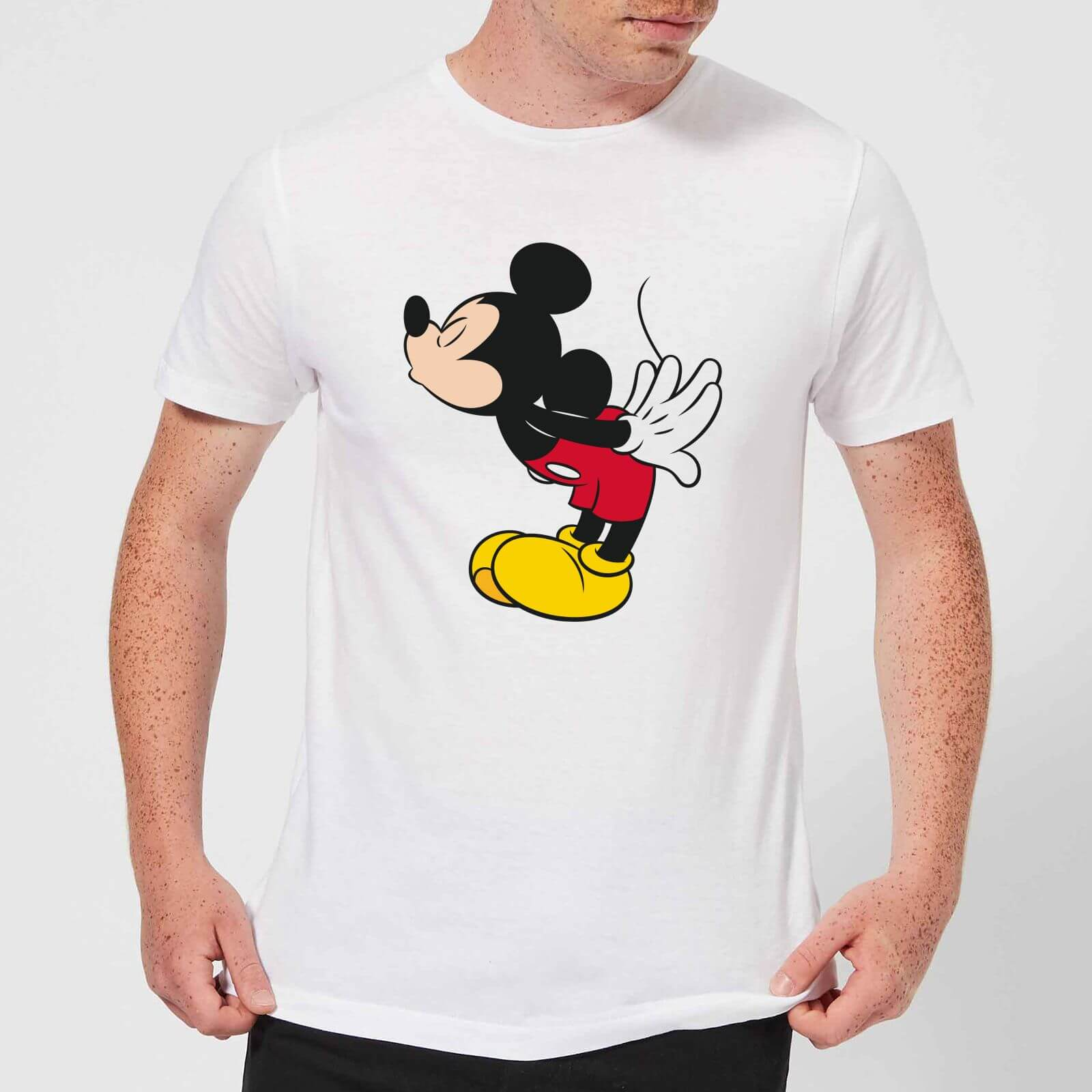 1b40a7be Disney Mickey Mouse Mickey Split Kiss T-Shirt - White Clothing | Zavvi