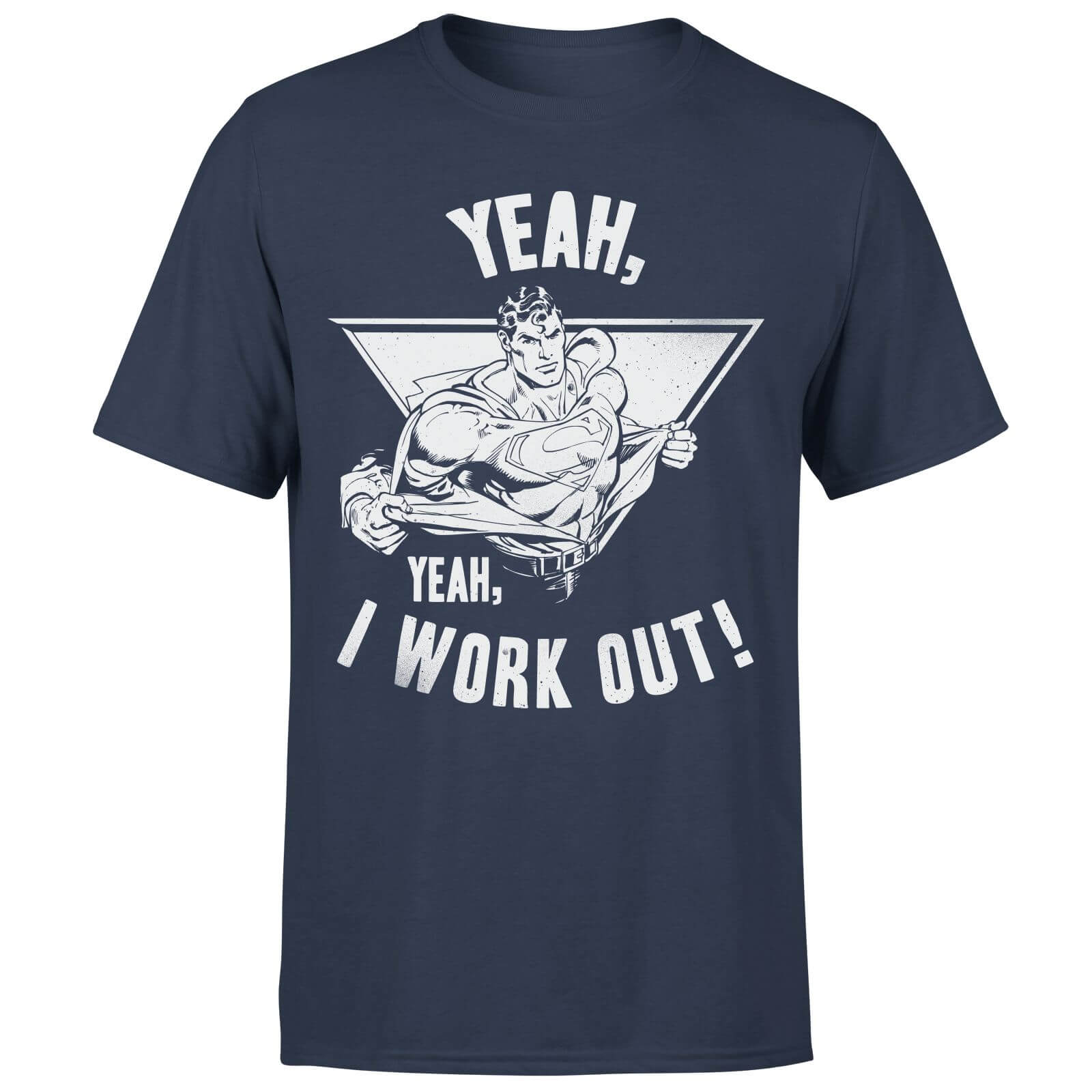 DC Comics Superman I Work Out T-Shirt - Navy