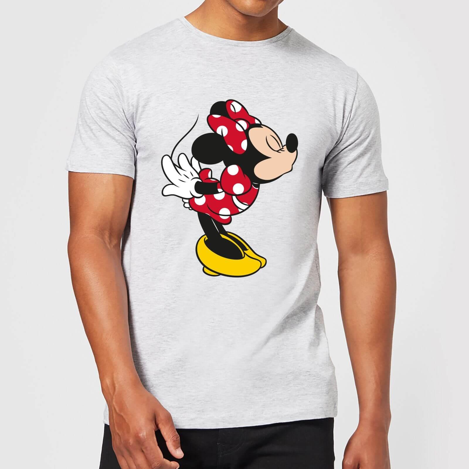 0ca2157c Disney Mickey Mouse Minnie Split Kiss T-Shirt - Grey Clothing   Zavvi US