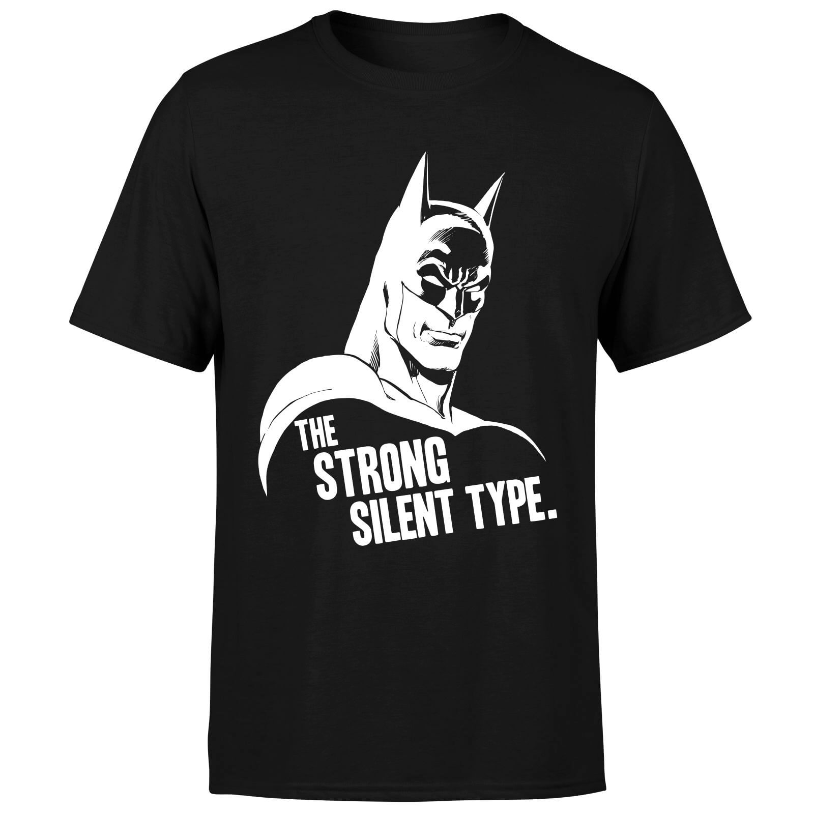 DC Comics Batman The Strong Silent Type T-Shirt - Black