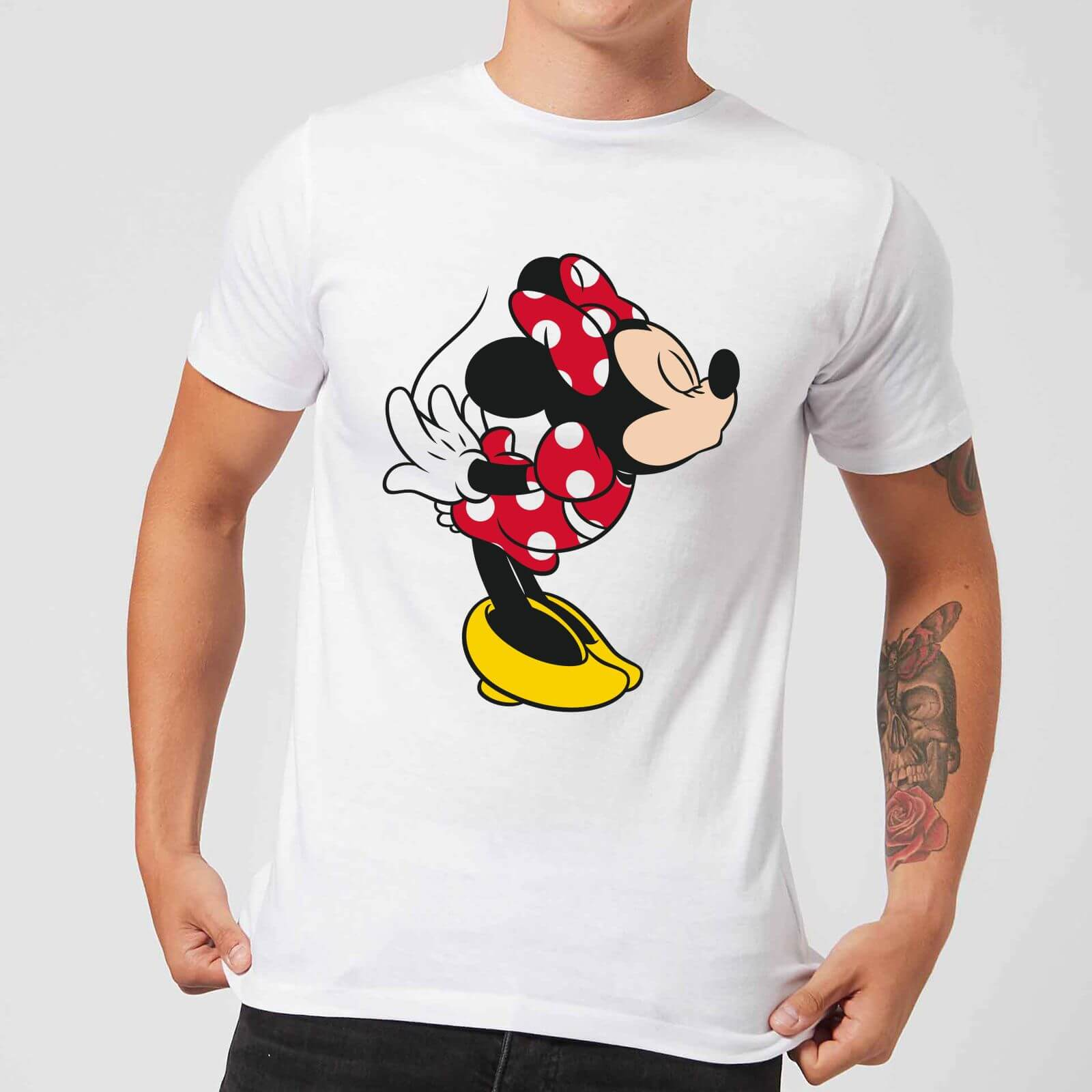 779ae3bb Disney Mickey Mouse Minnie Split Kiss T-Shirt - White   IWOOT